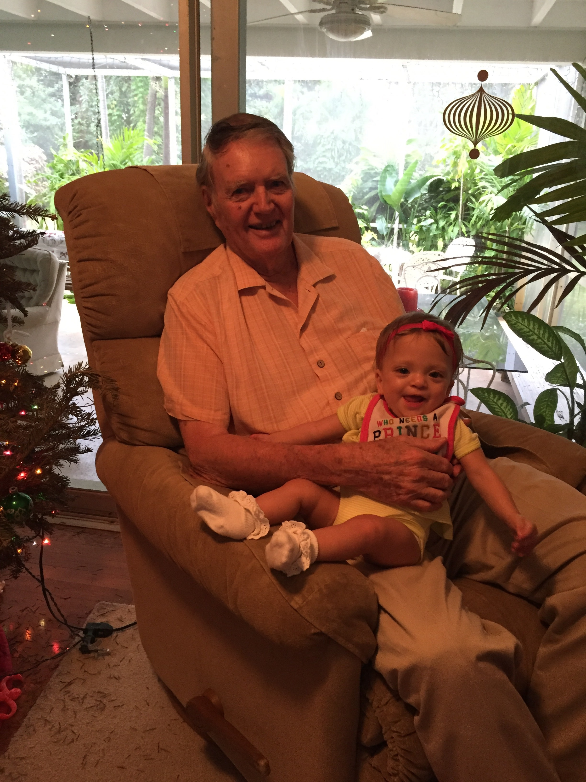Lucie loved meeting her Great Grandpa!
