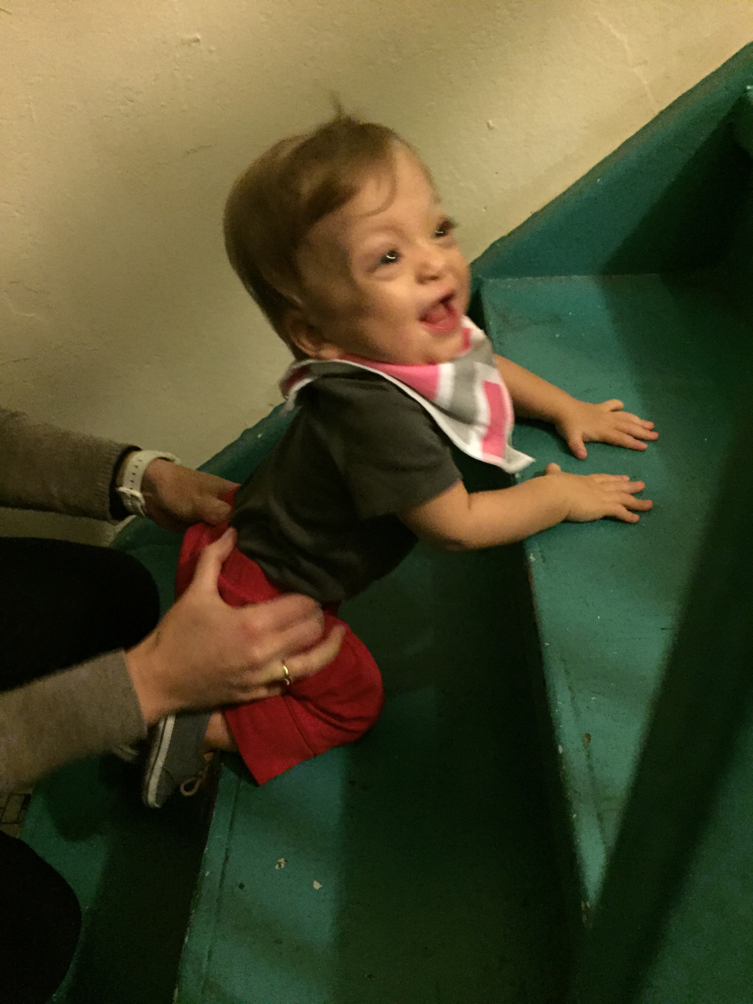 Learning to climb stairs in PT!