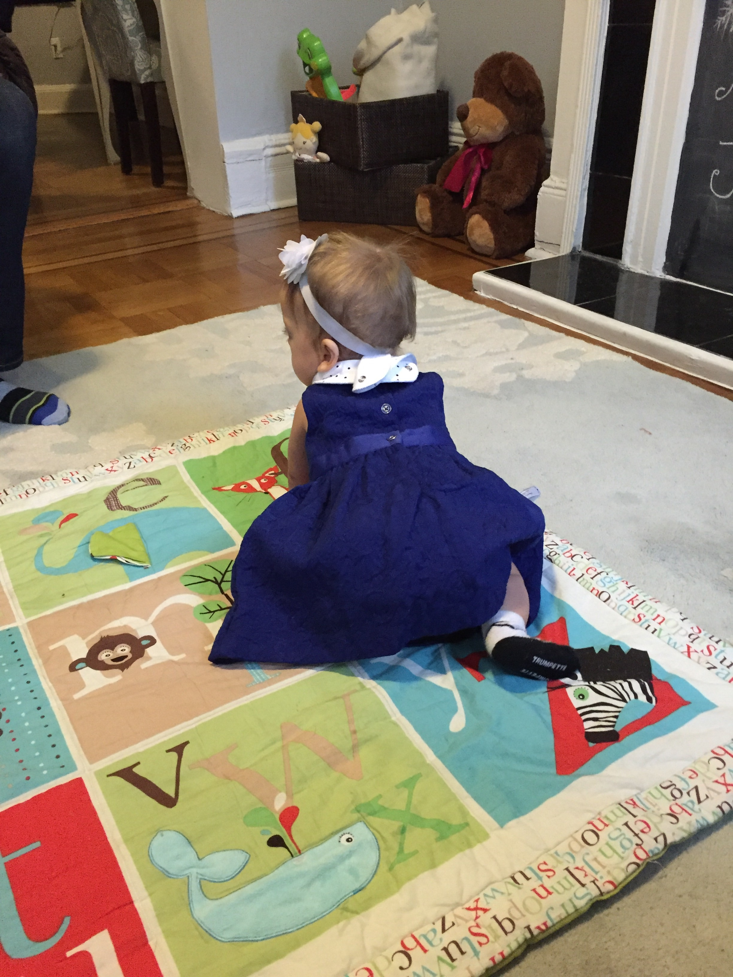 Showing everyone how well she can crawl