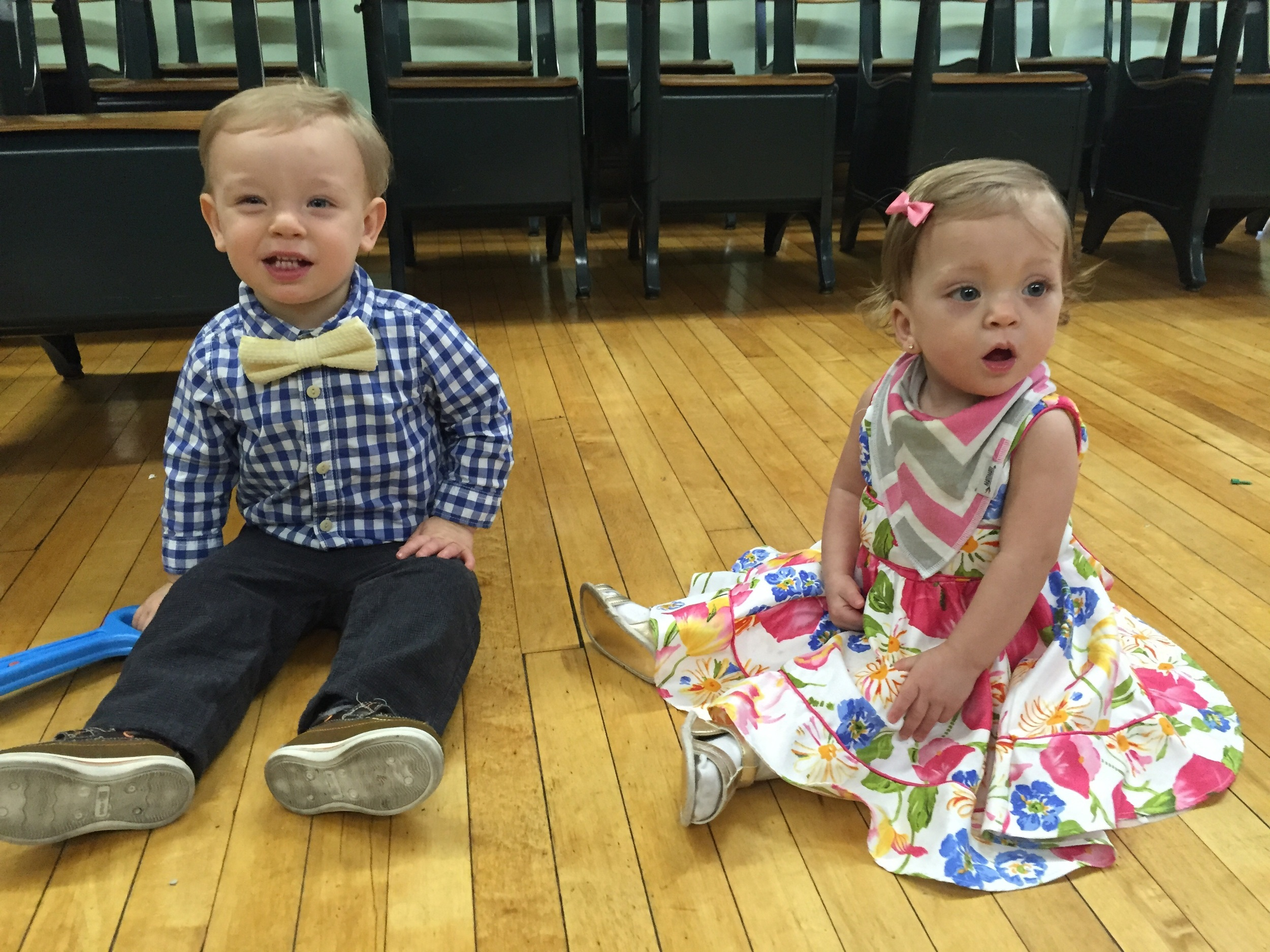 Luke and Lucie in their Easter Sunday best!