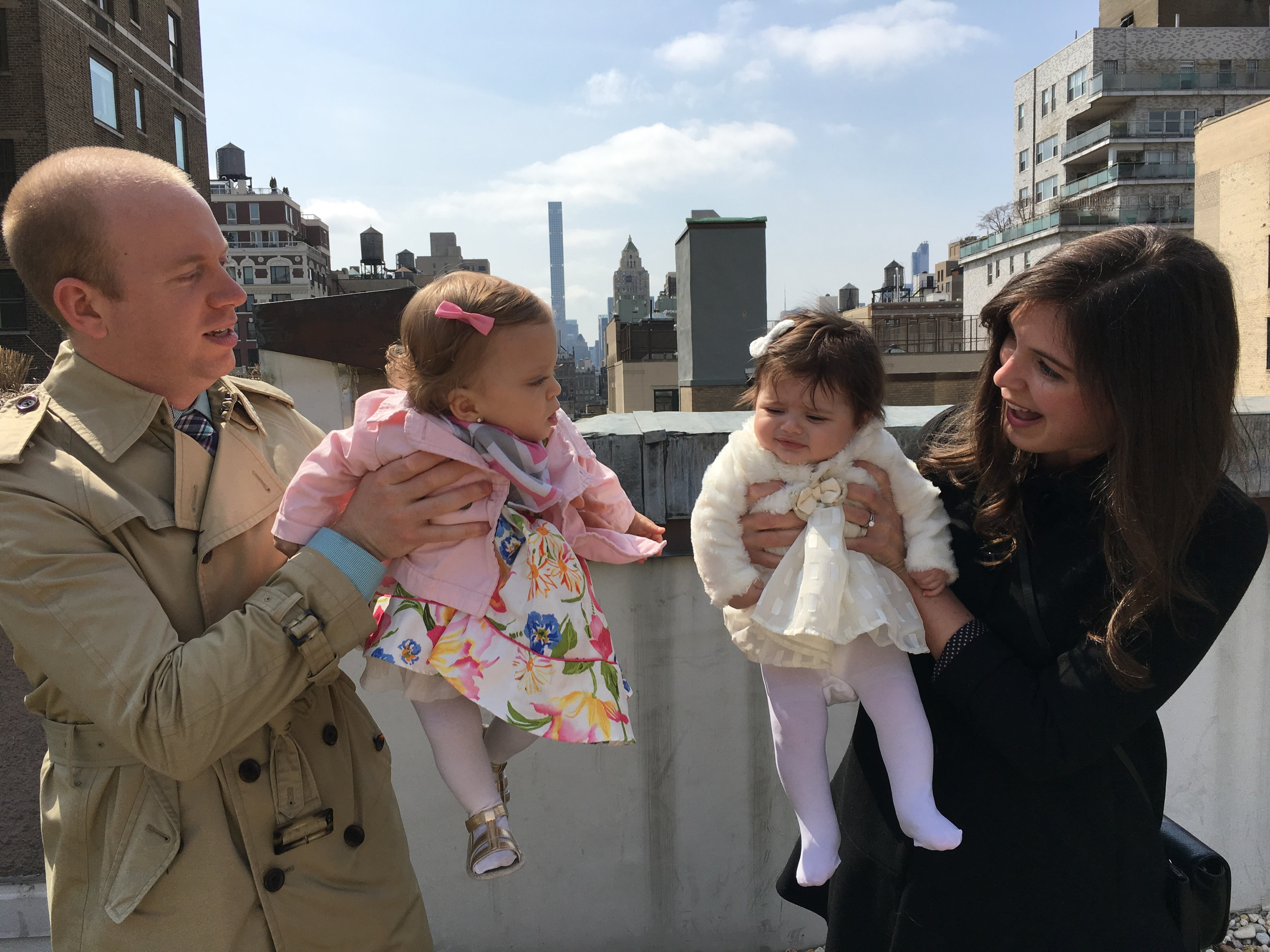 Rooftop Easter Egg Hunt with some of her favorites! (Uncle Scottie, Aunt Katie and bestie, Elle)