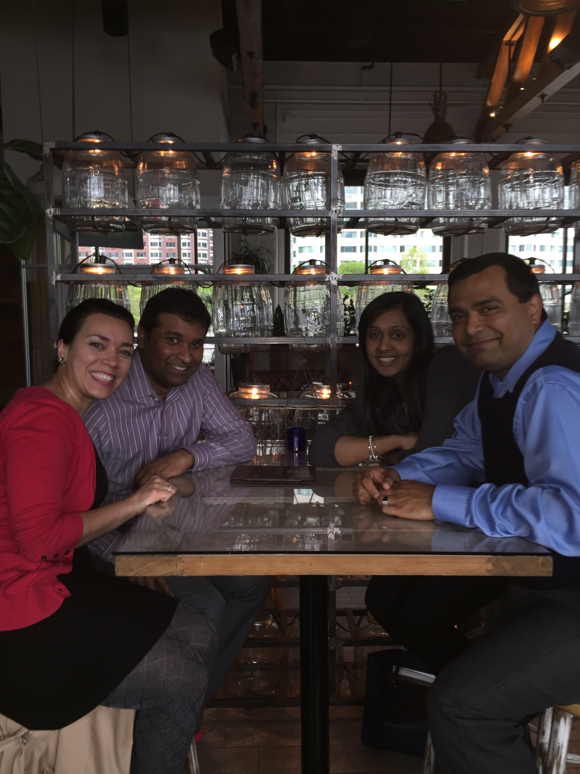 Drea got to meet up with coworkers to say farewell to one who is moving to LA. This was her first group of coworkers from almost seven years ago when she first started at JPMC and would commute to Jersey City.