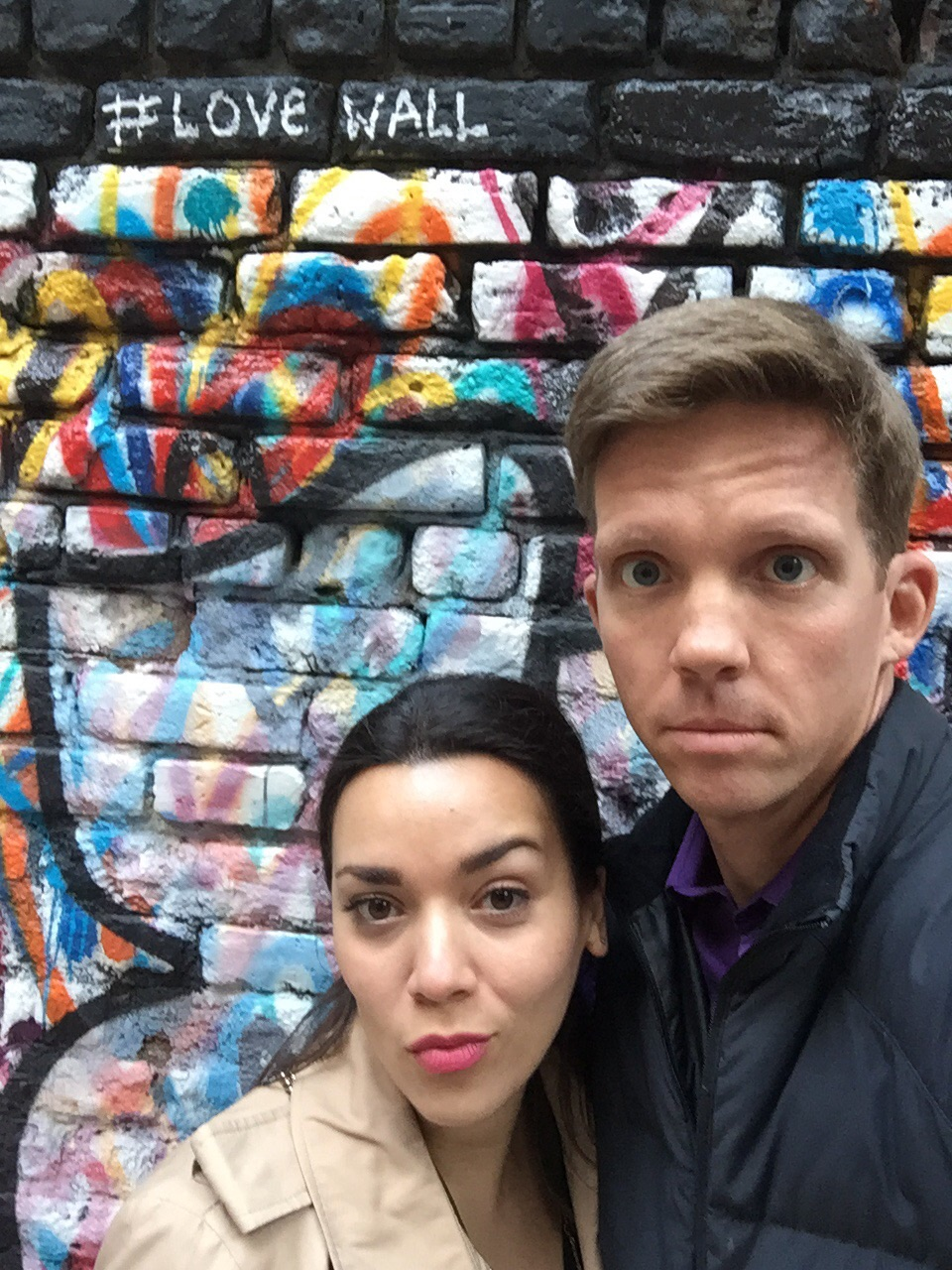 In the alley that leads to the entrance of Freeman's. Blue Steel poses at their finest!