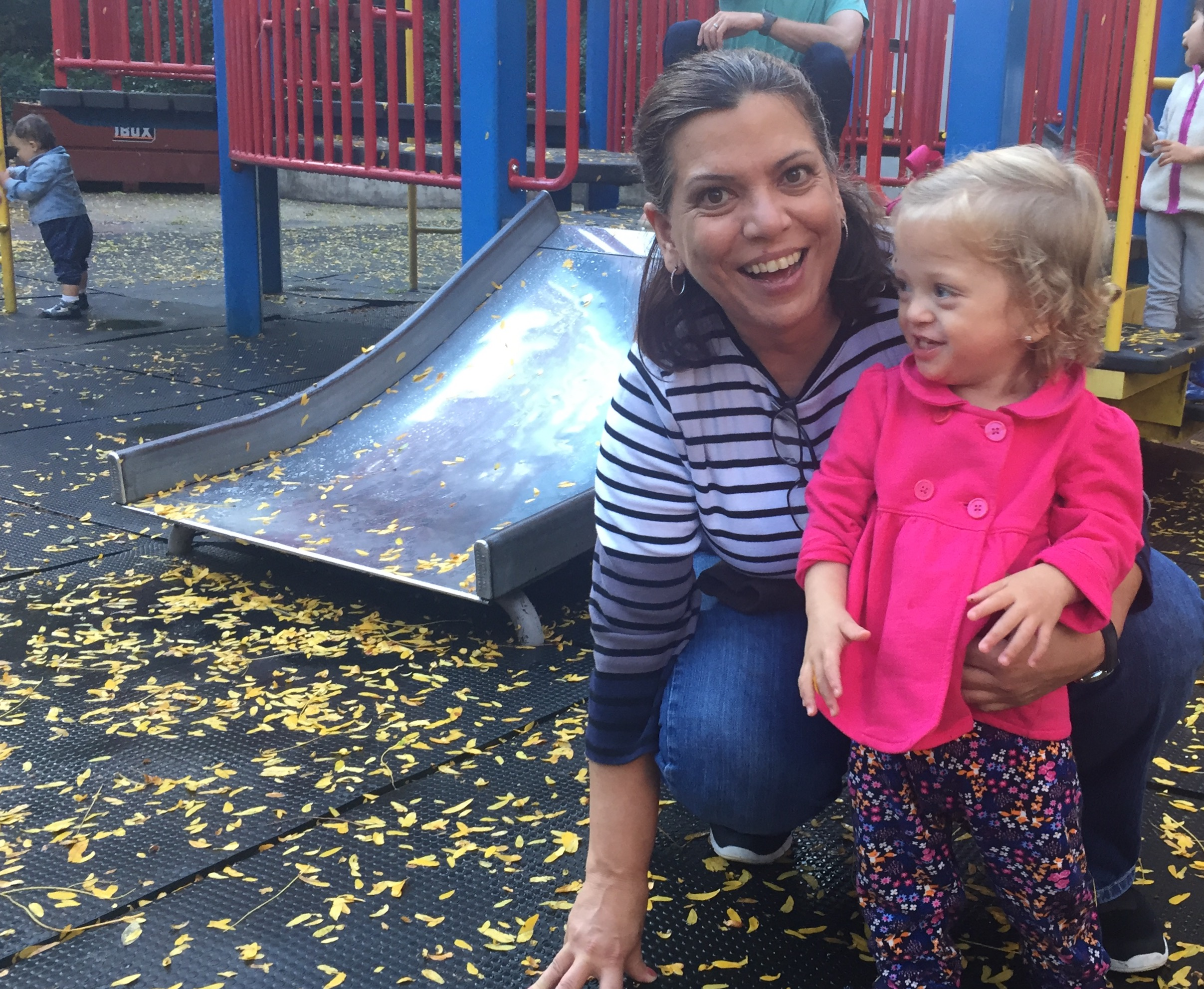 Lucie and Abuela at the playground in our neighborhood.