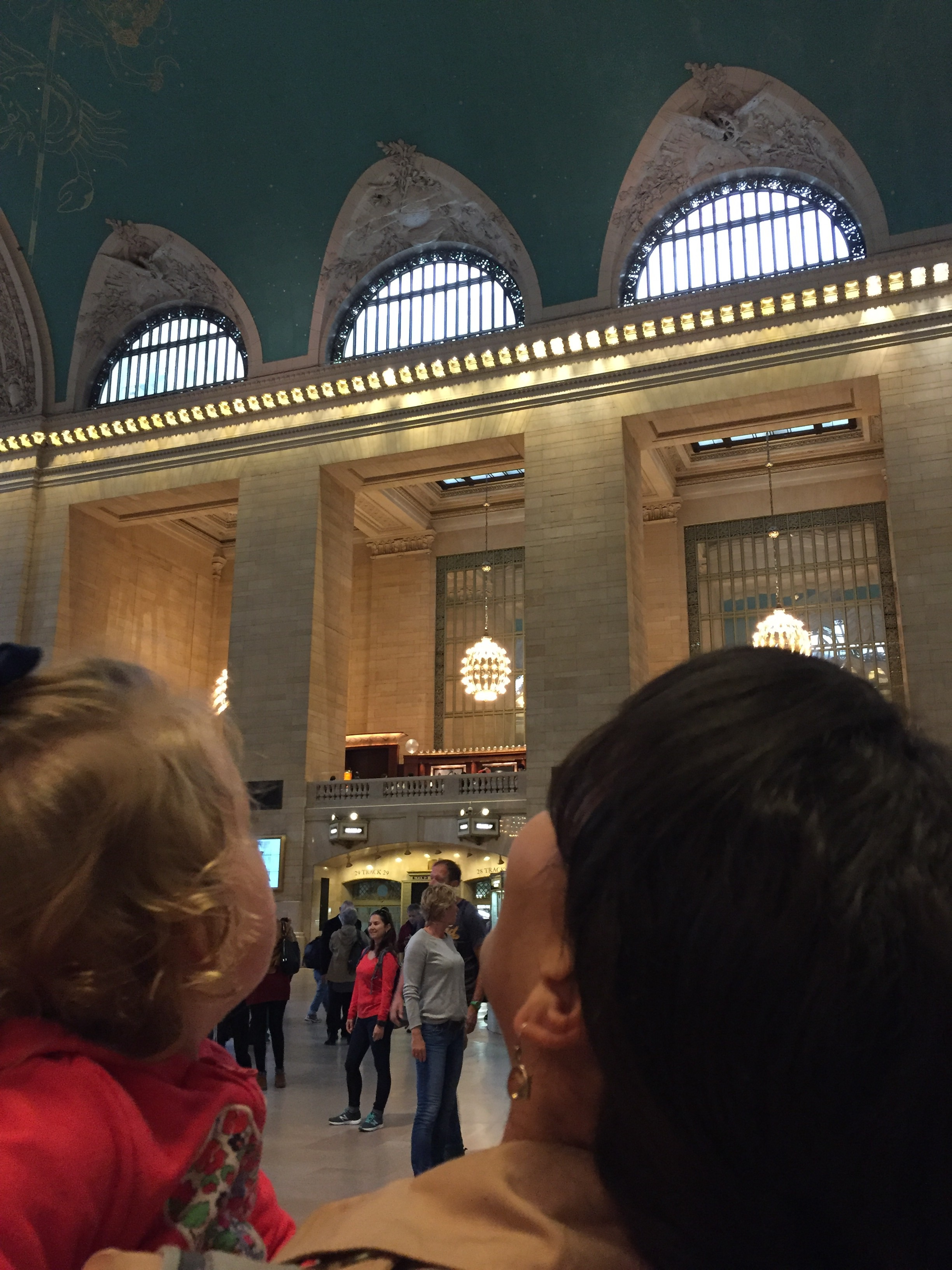 """Walked through Grand Central Terminal, and Lucie exhaled, """"Wooooow!"""""""