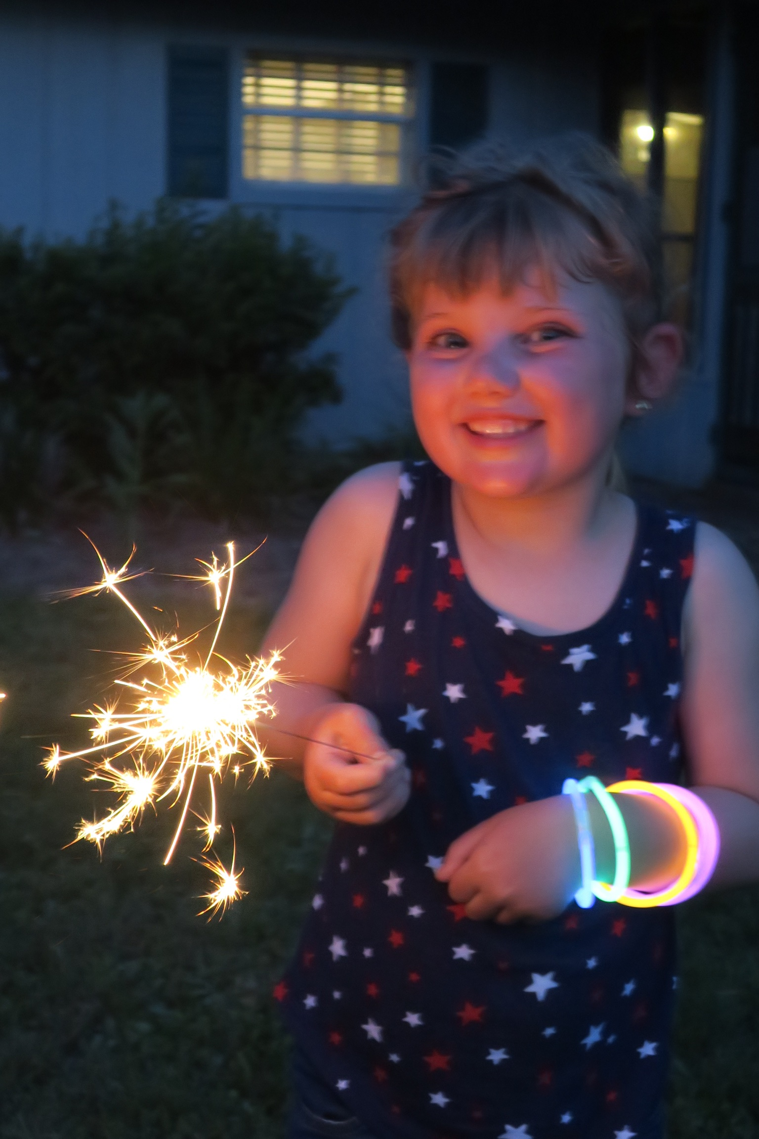 Sparklers for the 4th!