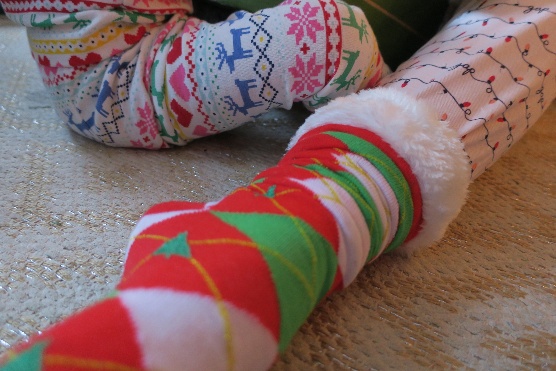 Fun socks and fun pj's!