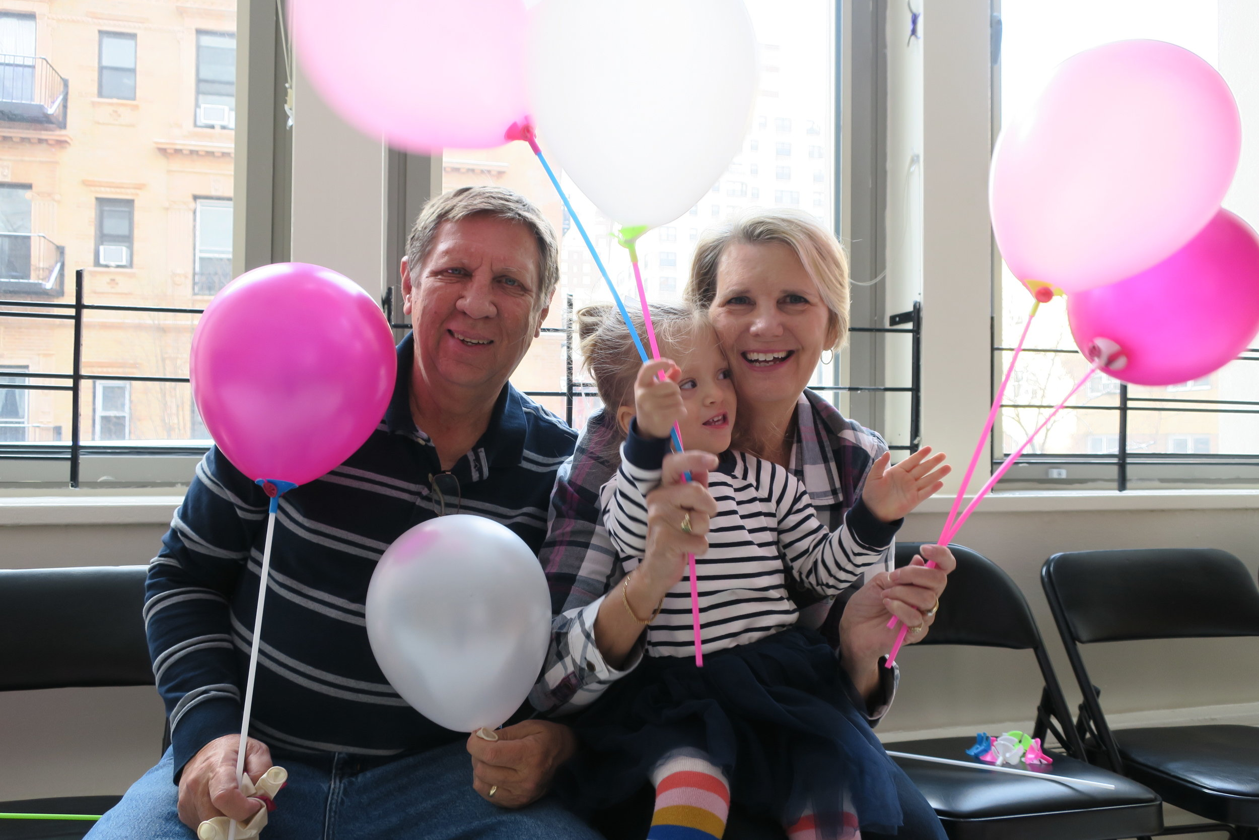 Abo and Grandma were in town to celebrate Lucie's THIRD Birthday!