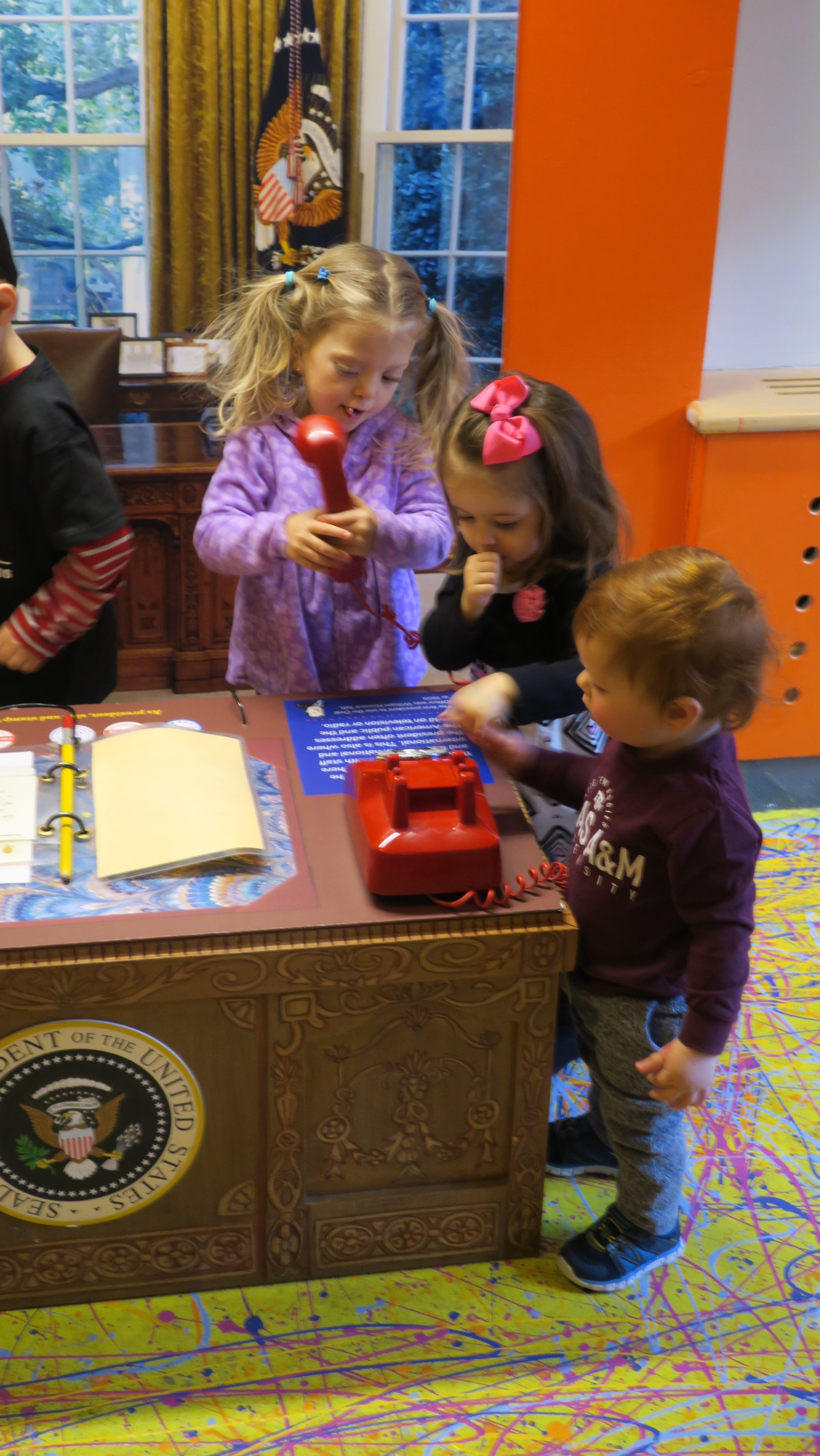 They even got to use the top secret phone in The Oval Office.