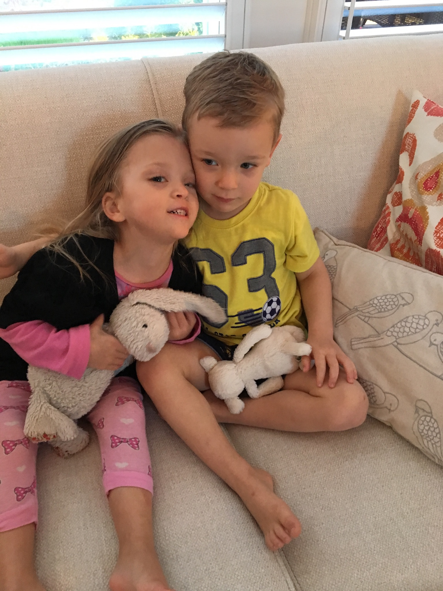 Lucie and her buddy, Luke.
