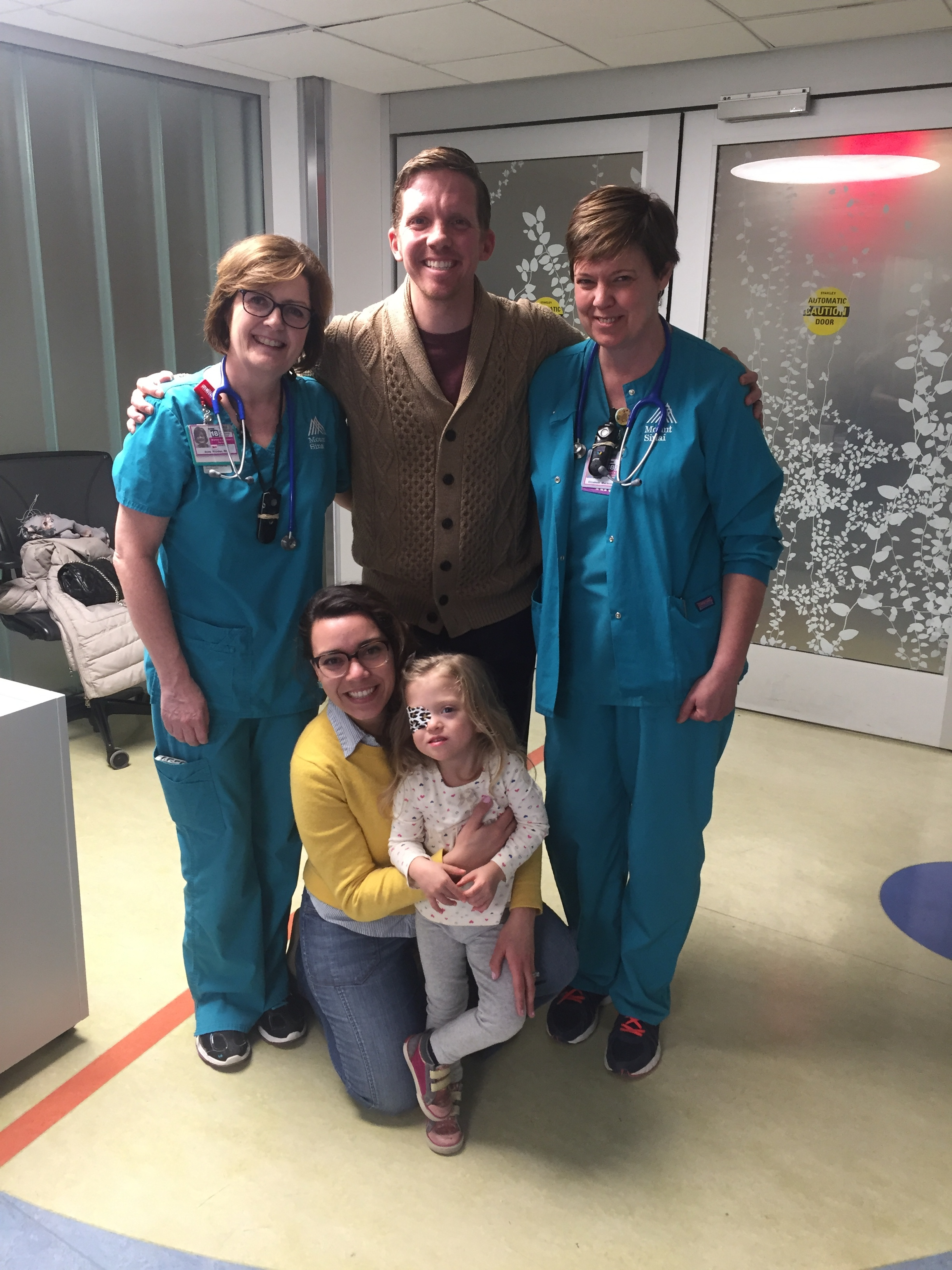 Visiting the NICU and the loving nurses we came to know so dearly to celebrate Lucie Day.
