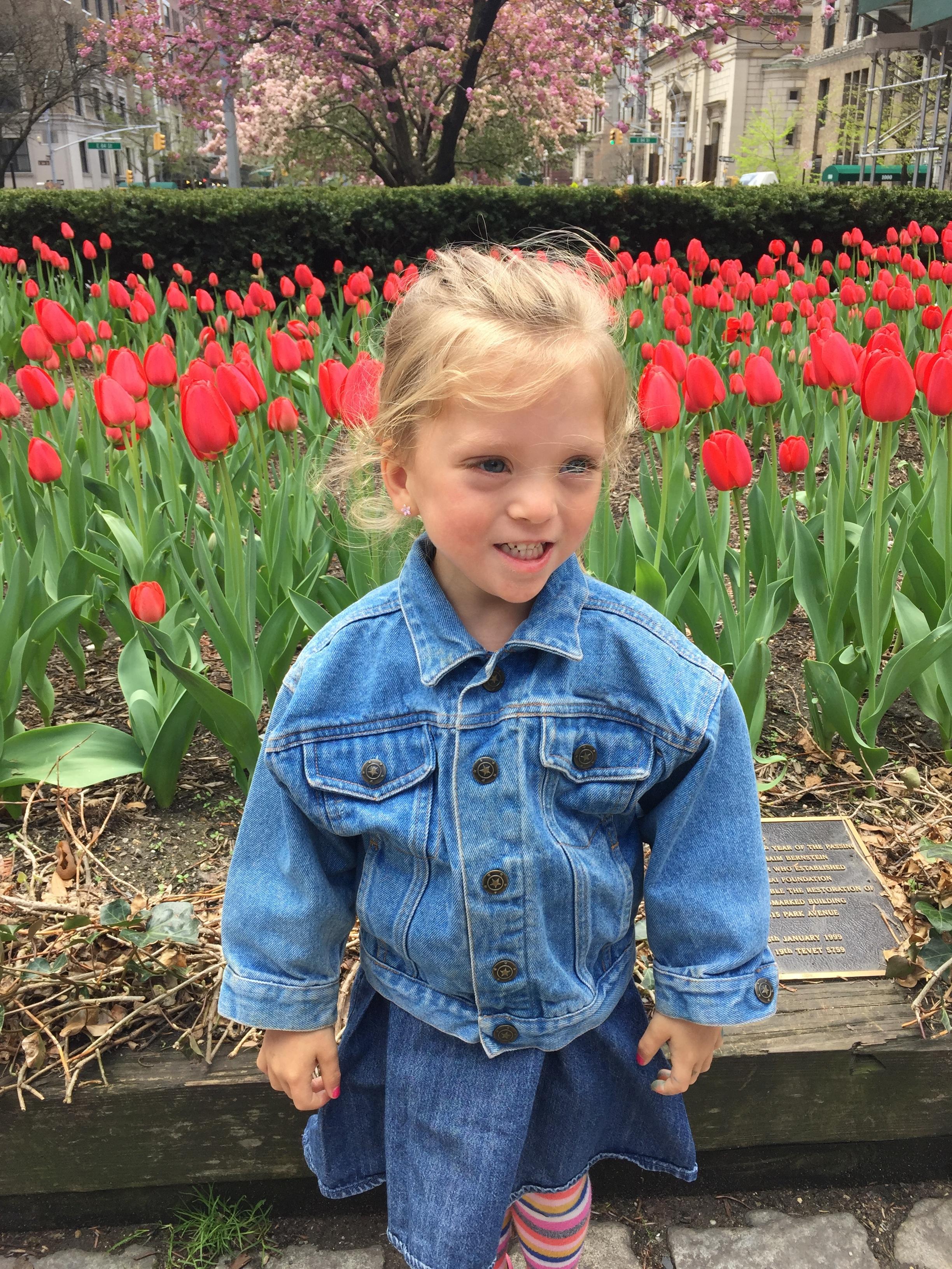 Tulips as tall as my girl