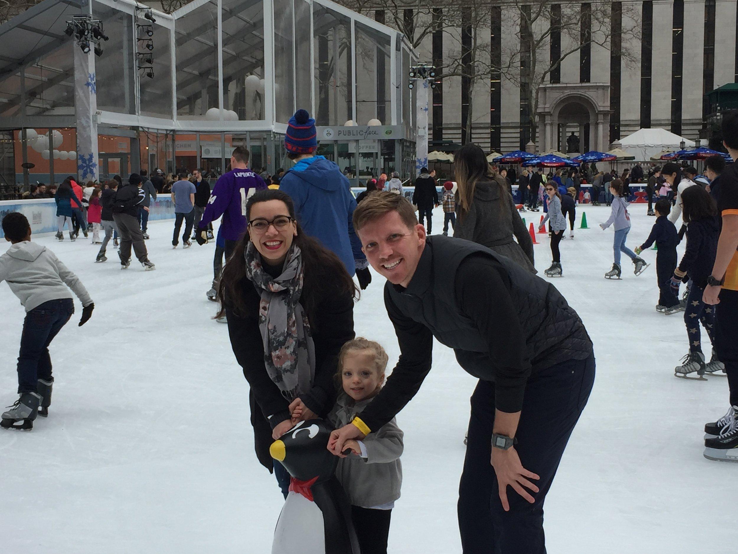 Ice Skating in Bryant Park