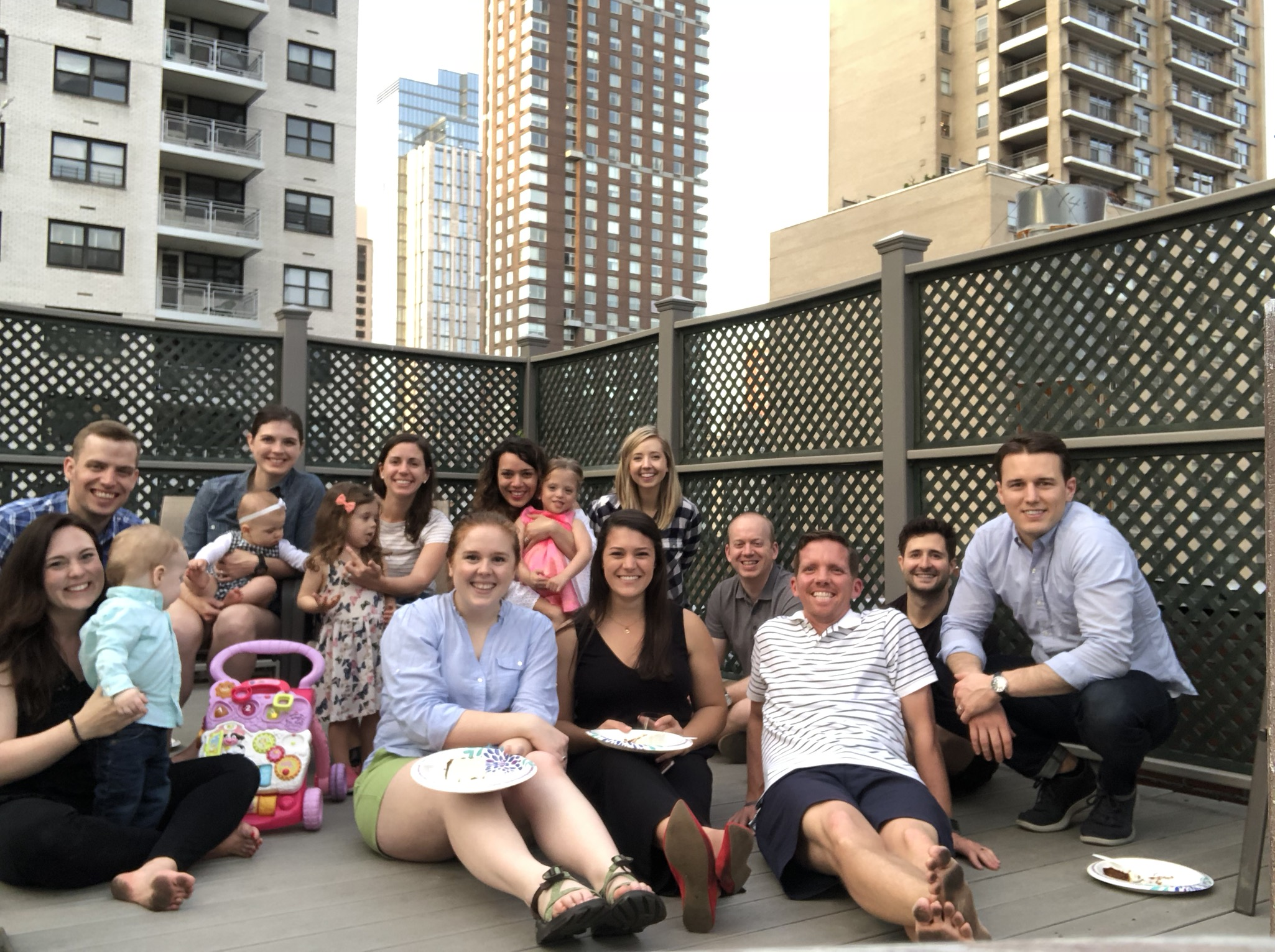 Such a fun gathering - we miss Hudson and the Braun family!