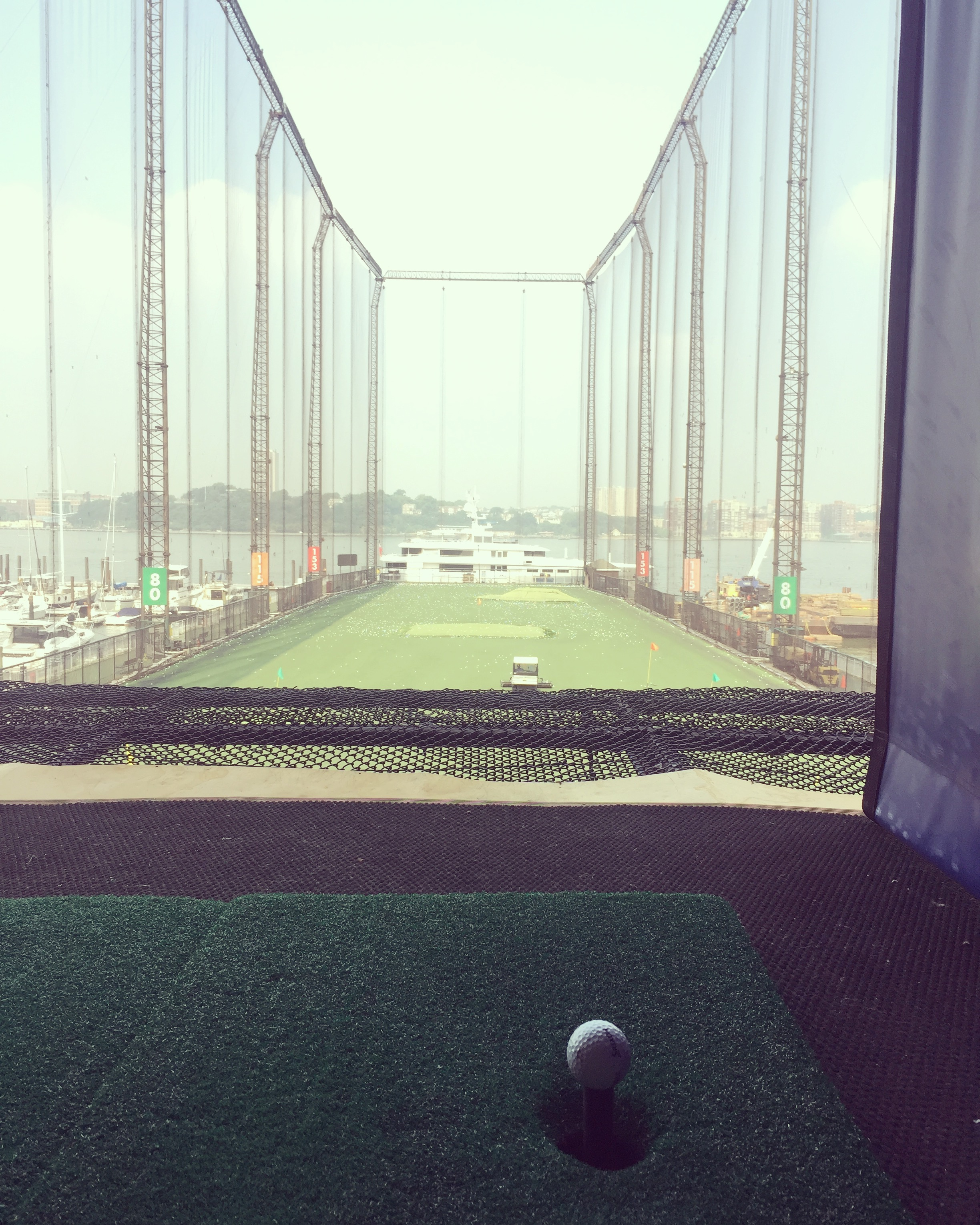 Chelsea Piers Driving Range for our Date Day