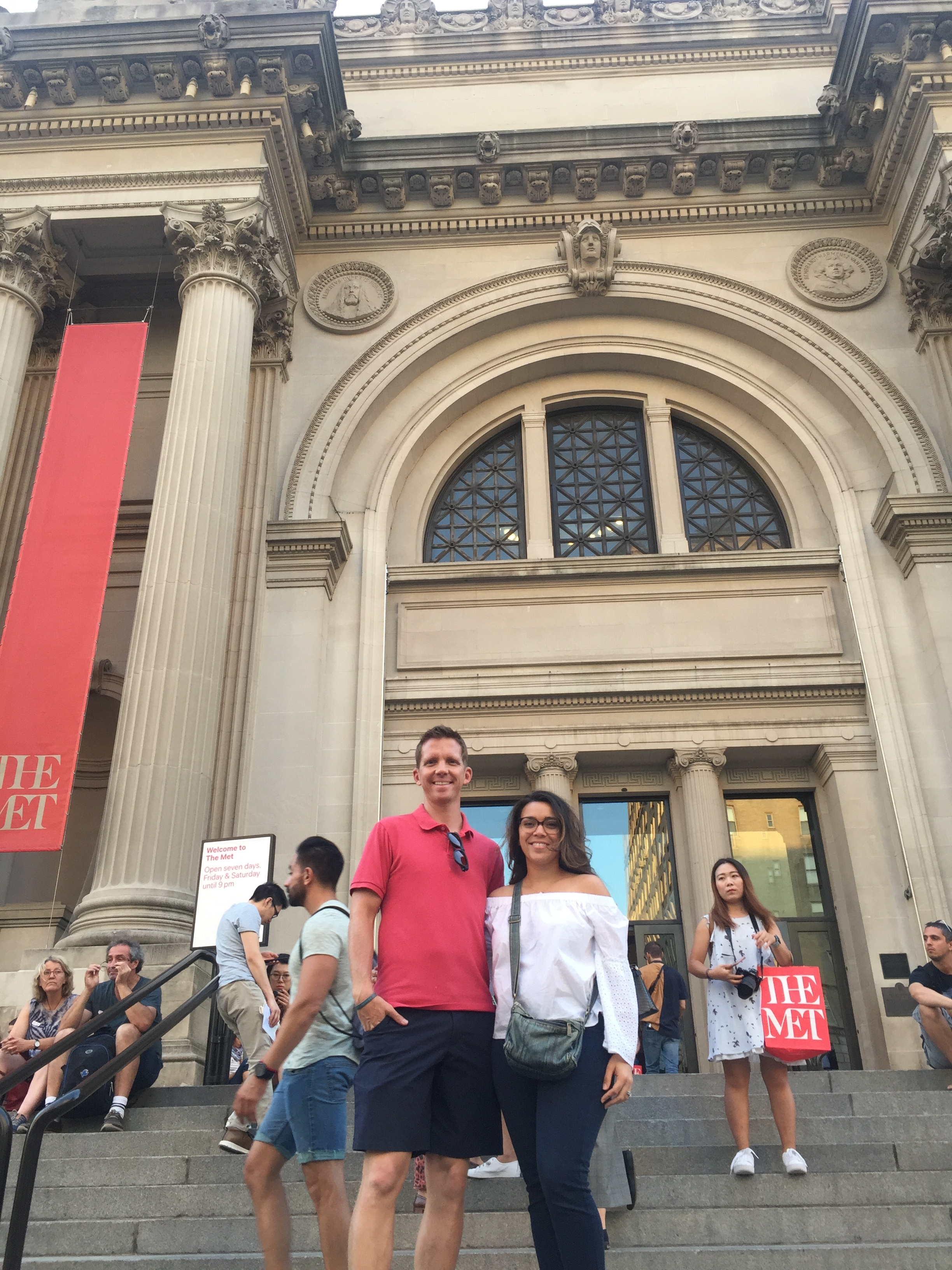 Thanks to our babysitting rotation that is still going strong, Rob and I had a date night where we went to The Met to see The Heavenly Bodies Exhibit.