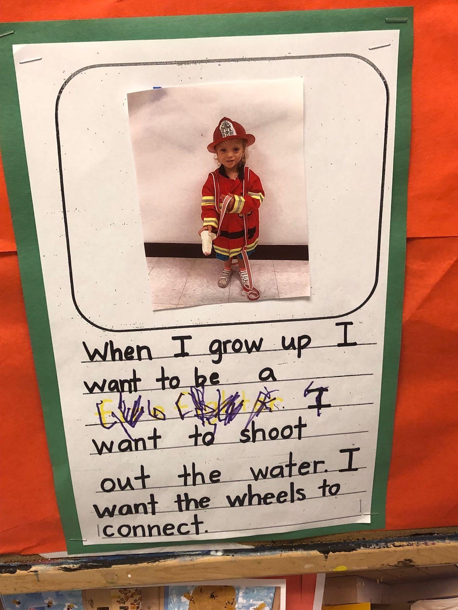 Lucie has decided that she wants to be a firefighter when she grows up!