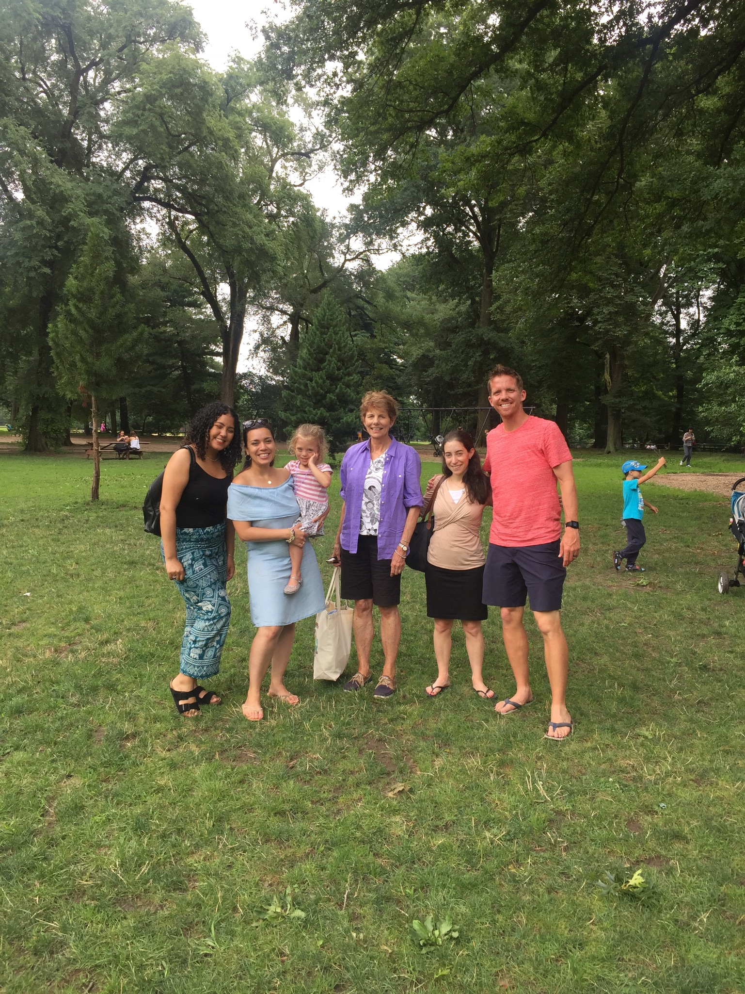 The following weekend, we had a picnic in Central Park with most of Lucie's original Early Intervention Therapy team. It was so great to catch up with them after a year!