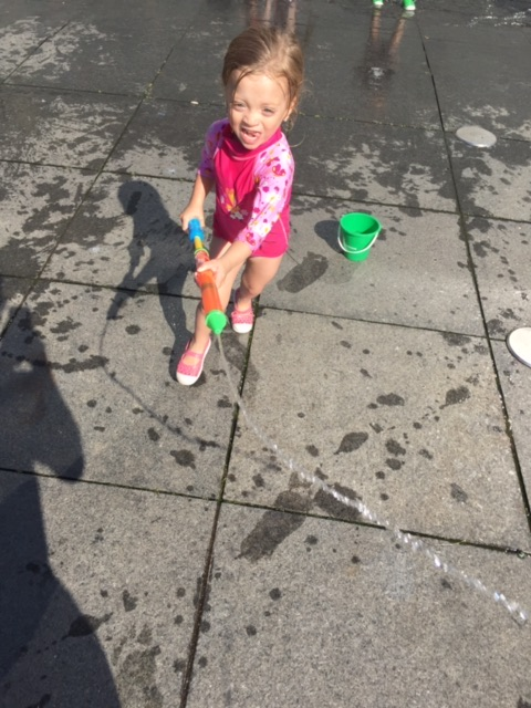 Splash Pad next to the American Museum of Natural History