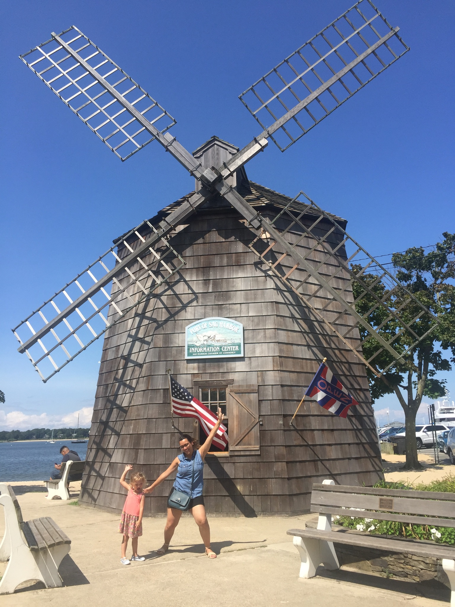 The next day we drove out to Sag Harbor, and found a silly windmill, just like in one of Lucie's favorite books,  Knuffle Bunny Free . The whole series is great, but that one is a particular favorite.