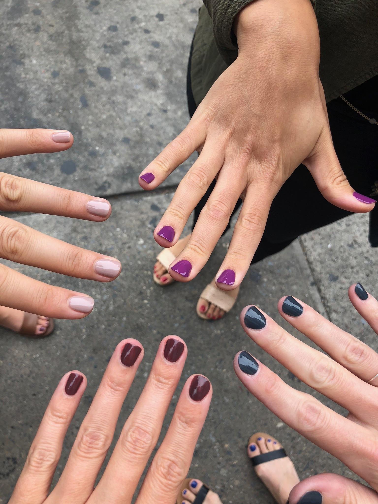 After brunch, we got our nails done!