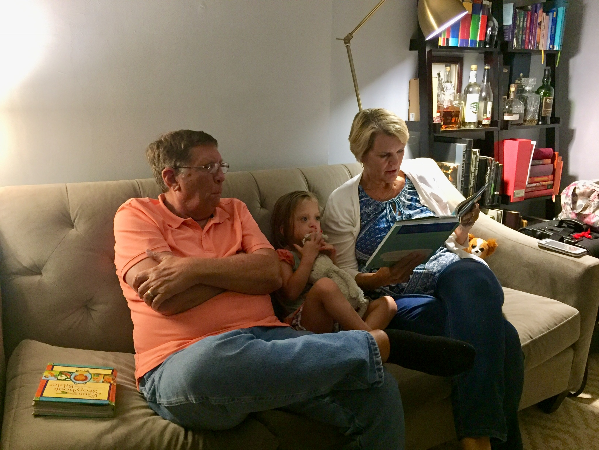 Reading with Grandma and Abo <3