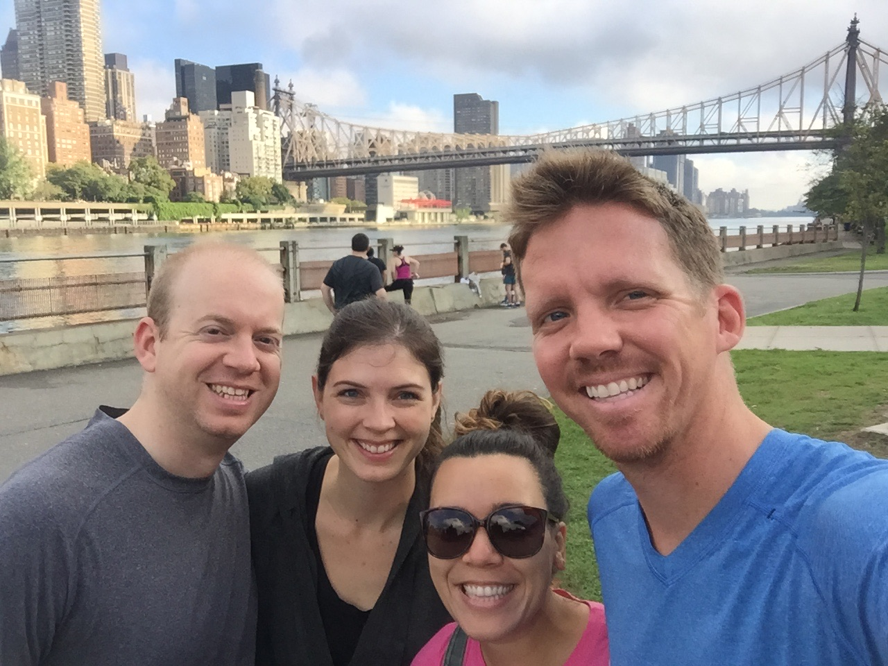 """We signed up for a 5K on Roosevelt Island. It was such a great day for a run.... nowhere near as sweltering as the 4th of July run. It was called """"Go Nuts for Donuts"""", so after the race there was a big donut party."""
