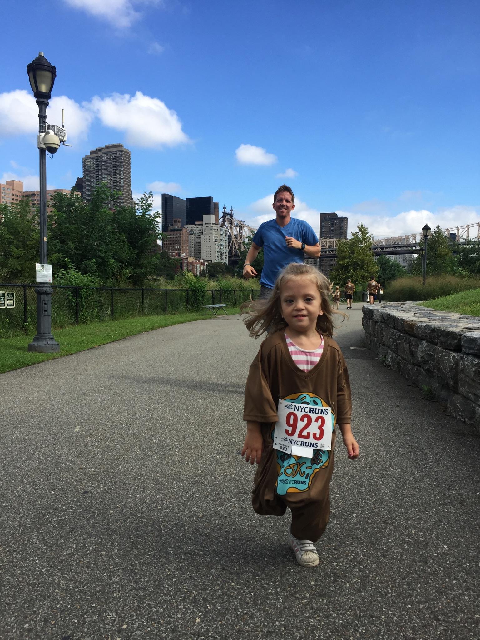 Lucie loves running!