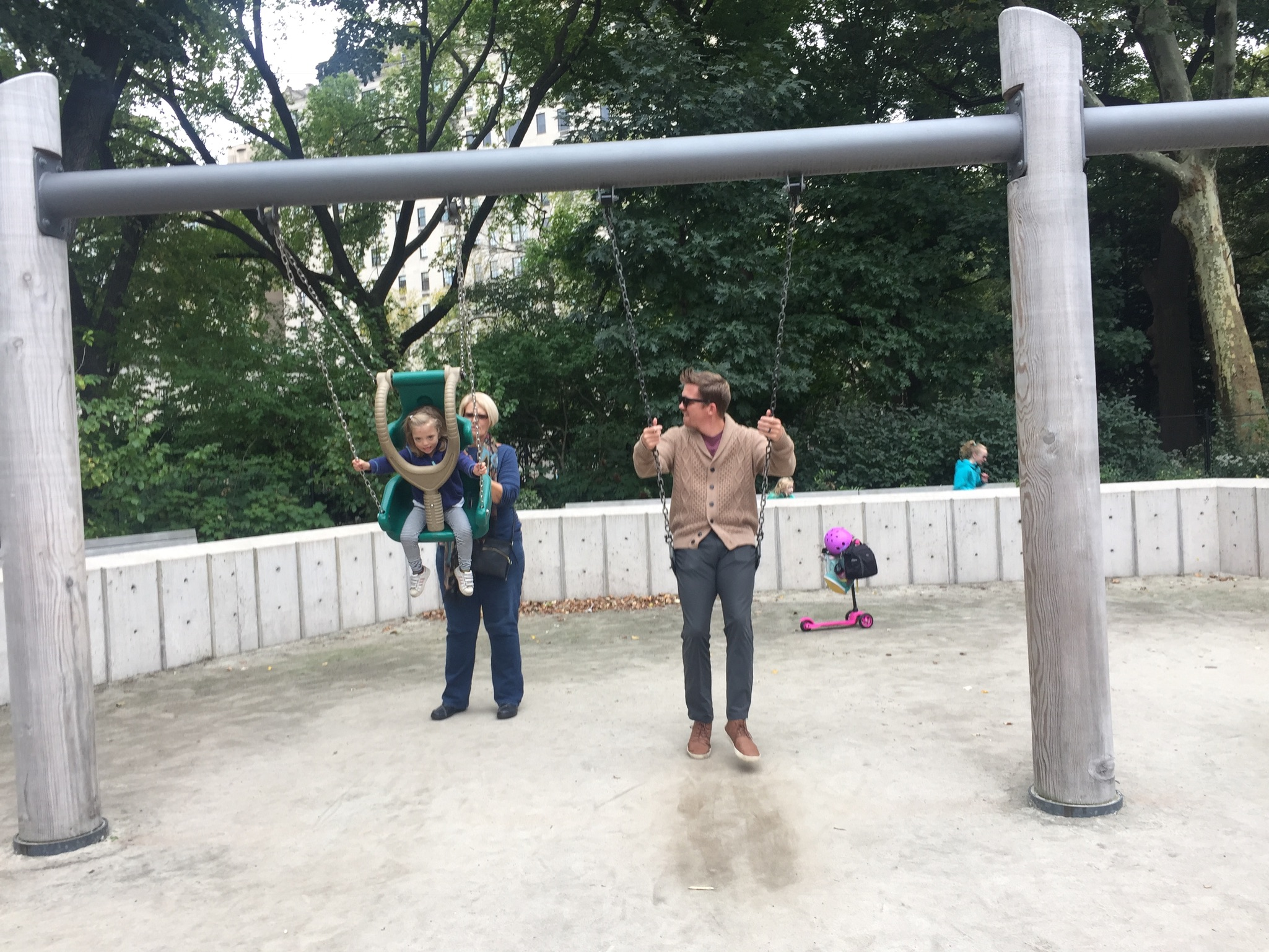 Playing in Central Park