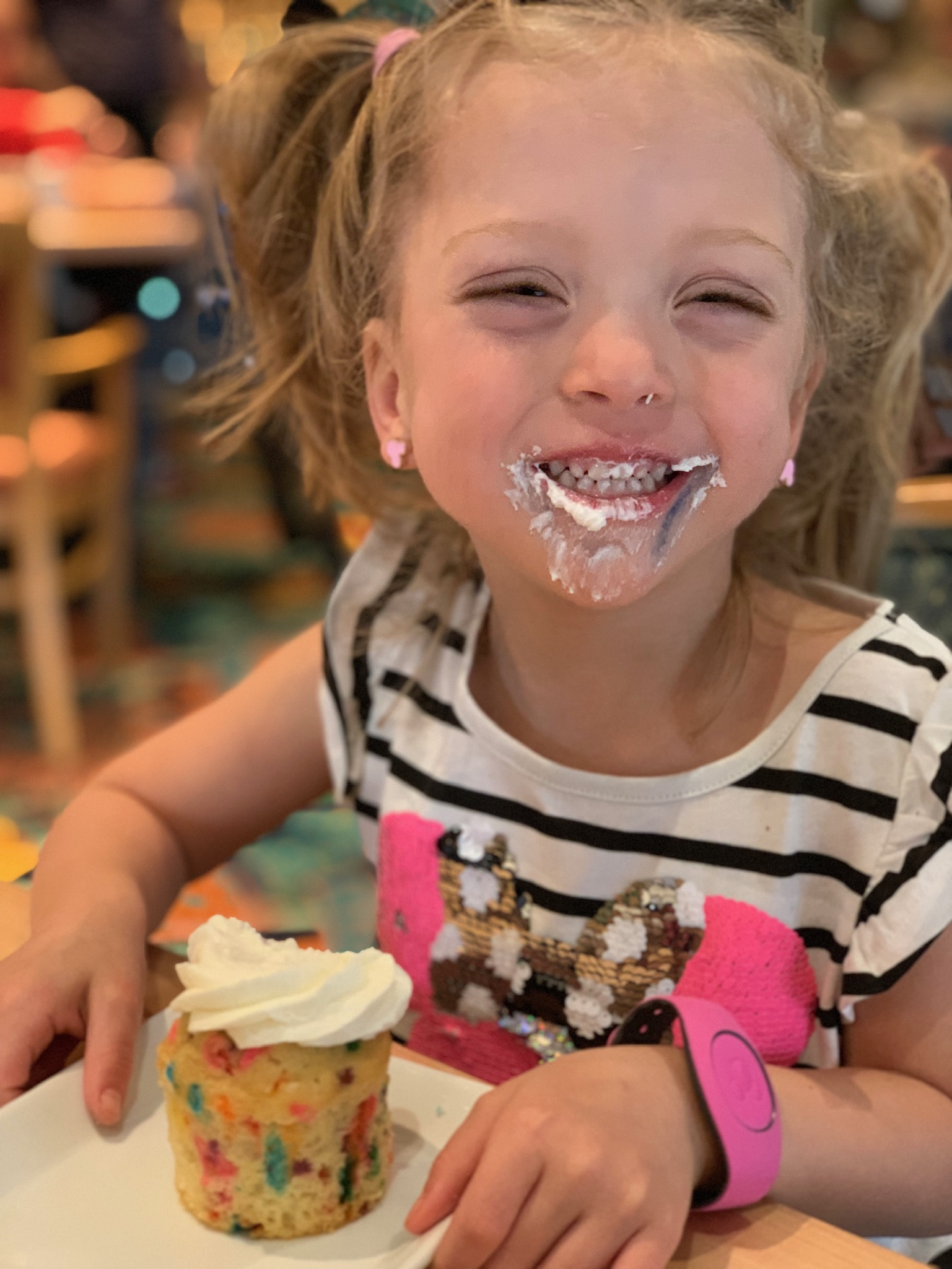 Topped off with a Birthday cupcake, because, CELEBRATION!