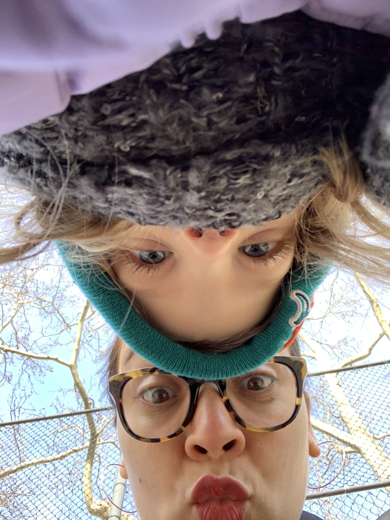 Silly pictures on a nice day, watching Daddy-O lead a Super Bowl clinic.