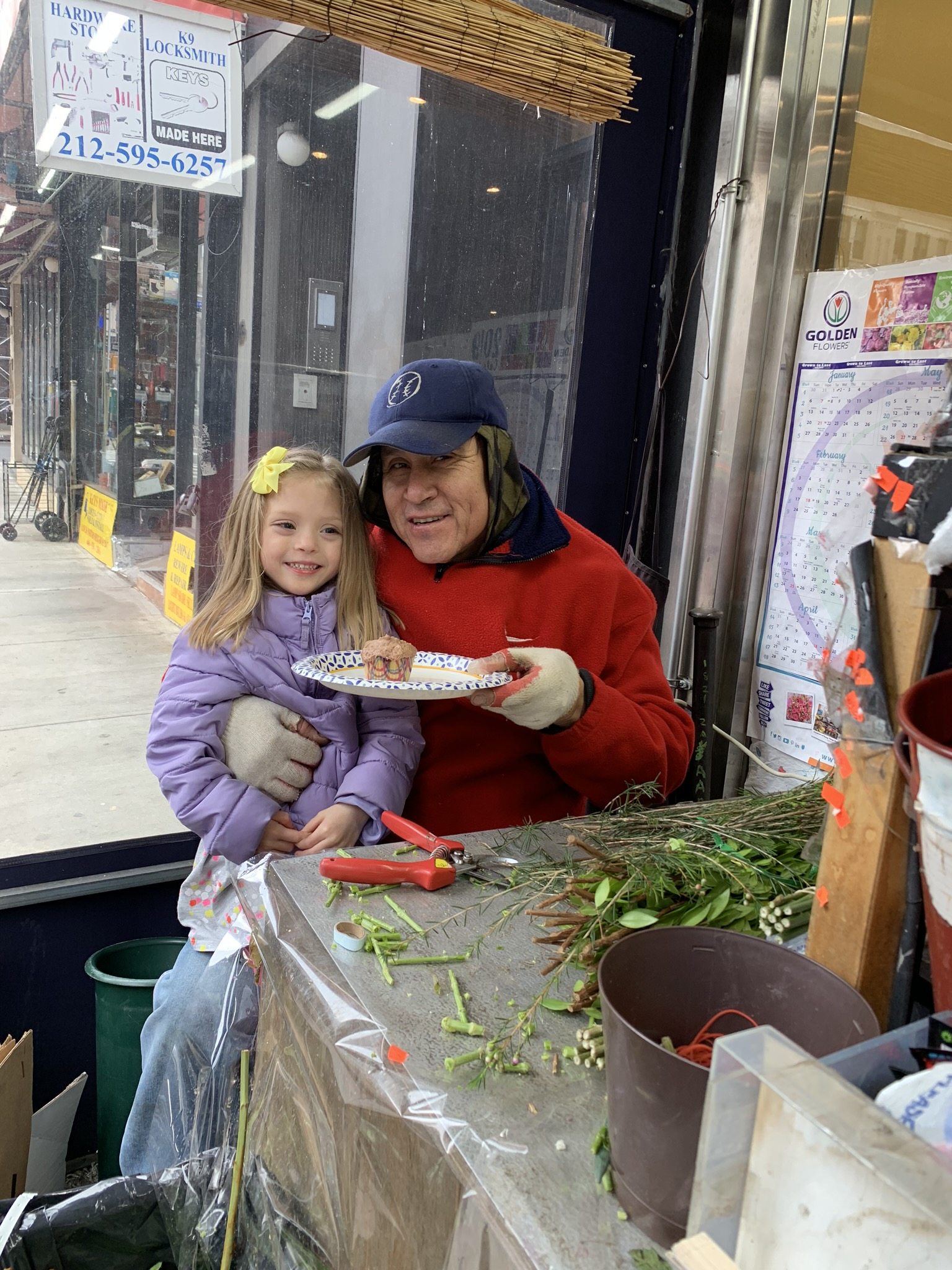"Lucie shared one with our friend and ""neighbor"", from the flower shop below us as well."