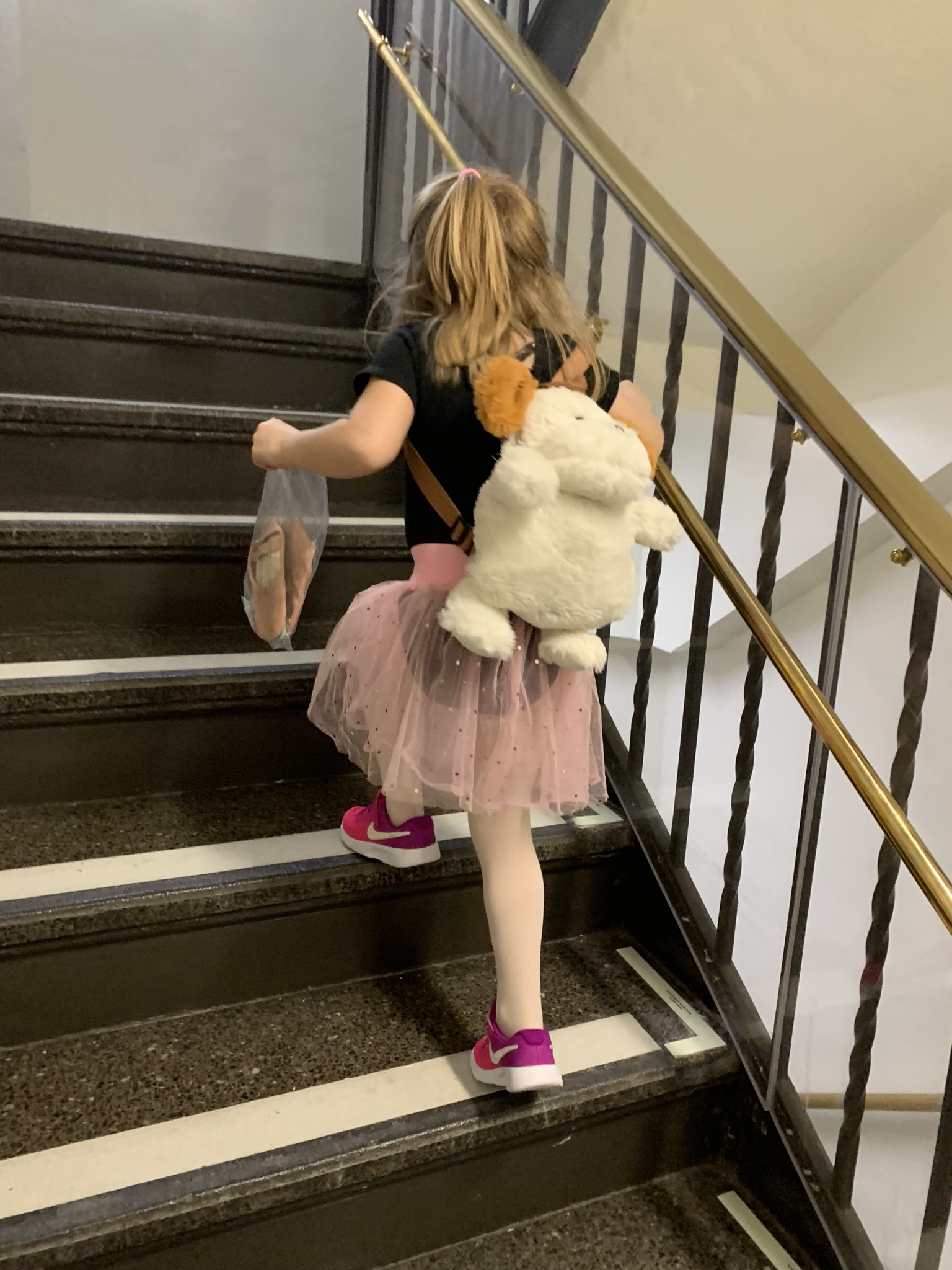 Running up to ballet!