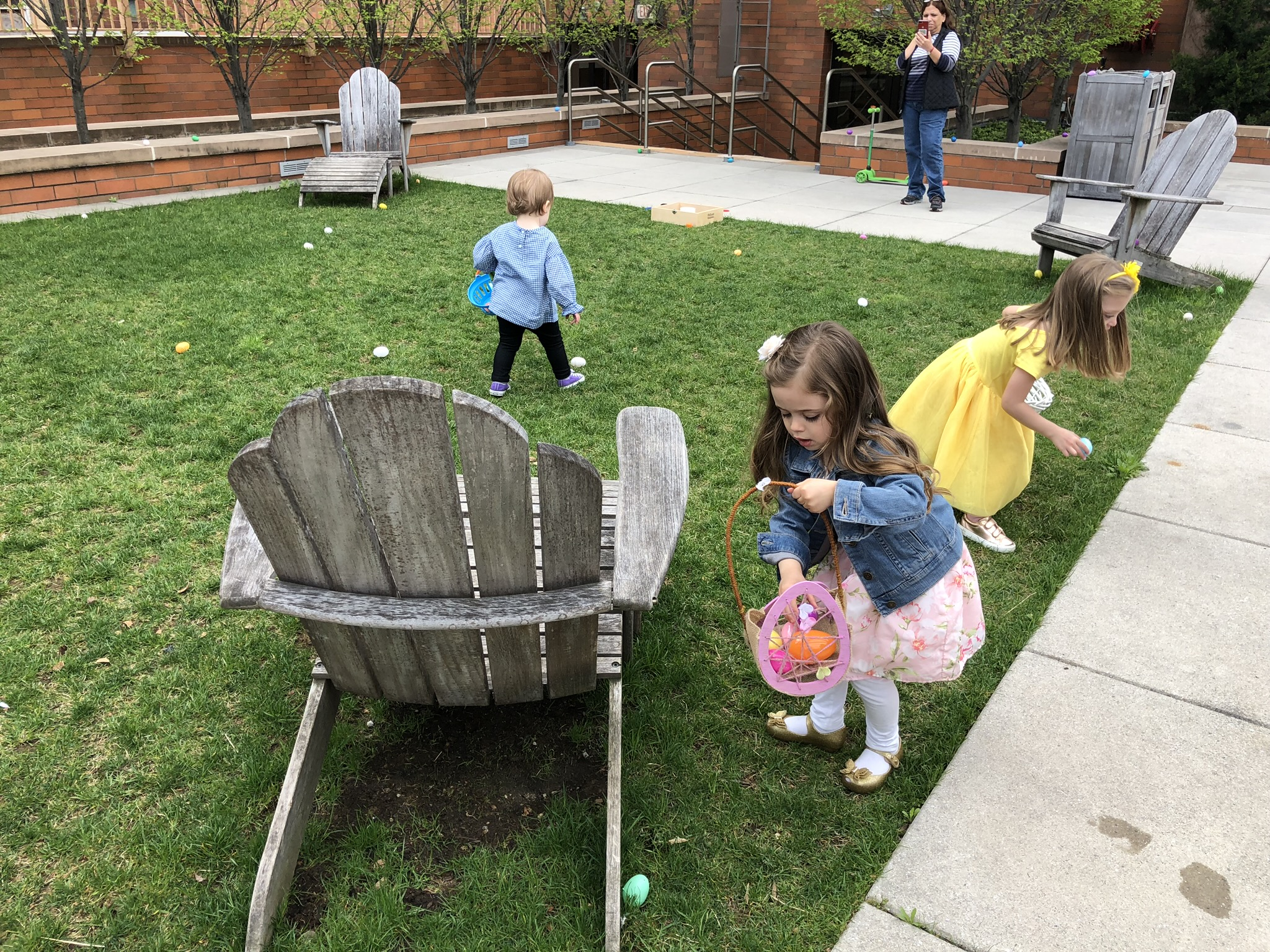 Easter egg hunt on the terrace at a friends place.