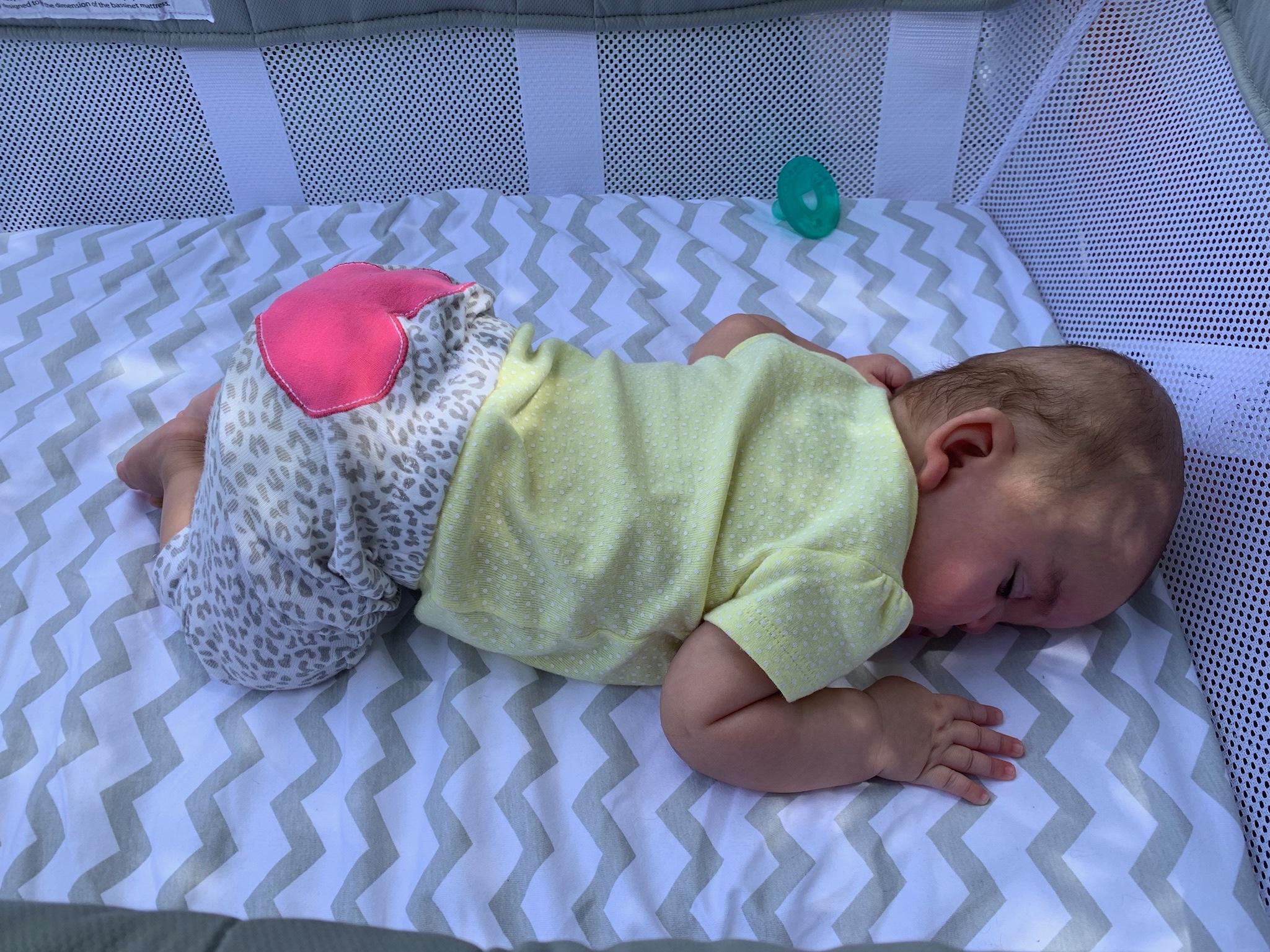 Felicity napping al fresco