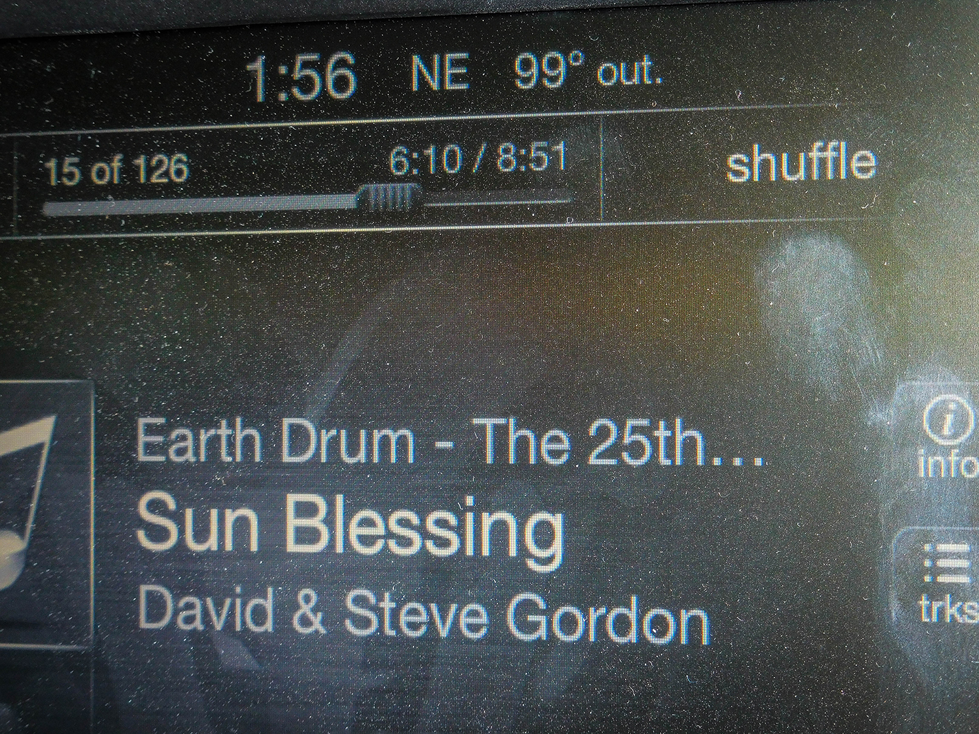It seemed an appropriate song at 99 degrees on the way to 103 as we drove down into the Verde Valley.