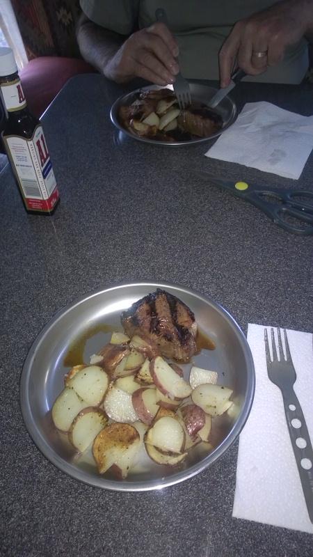 Ah, dinner! Simple and tasty!