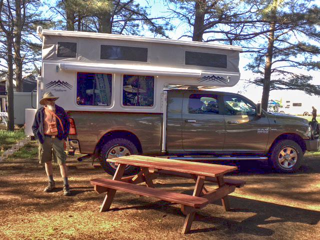 Joni captures me after we set up camp on Thursday.
