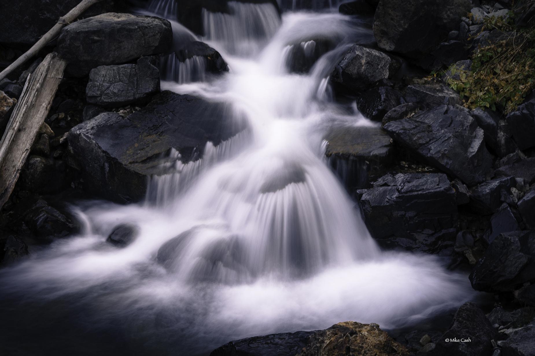 Bottom cascade of the falls near Yankee Boy Basin