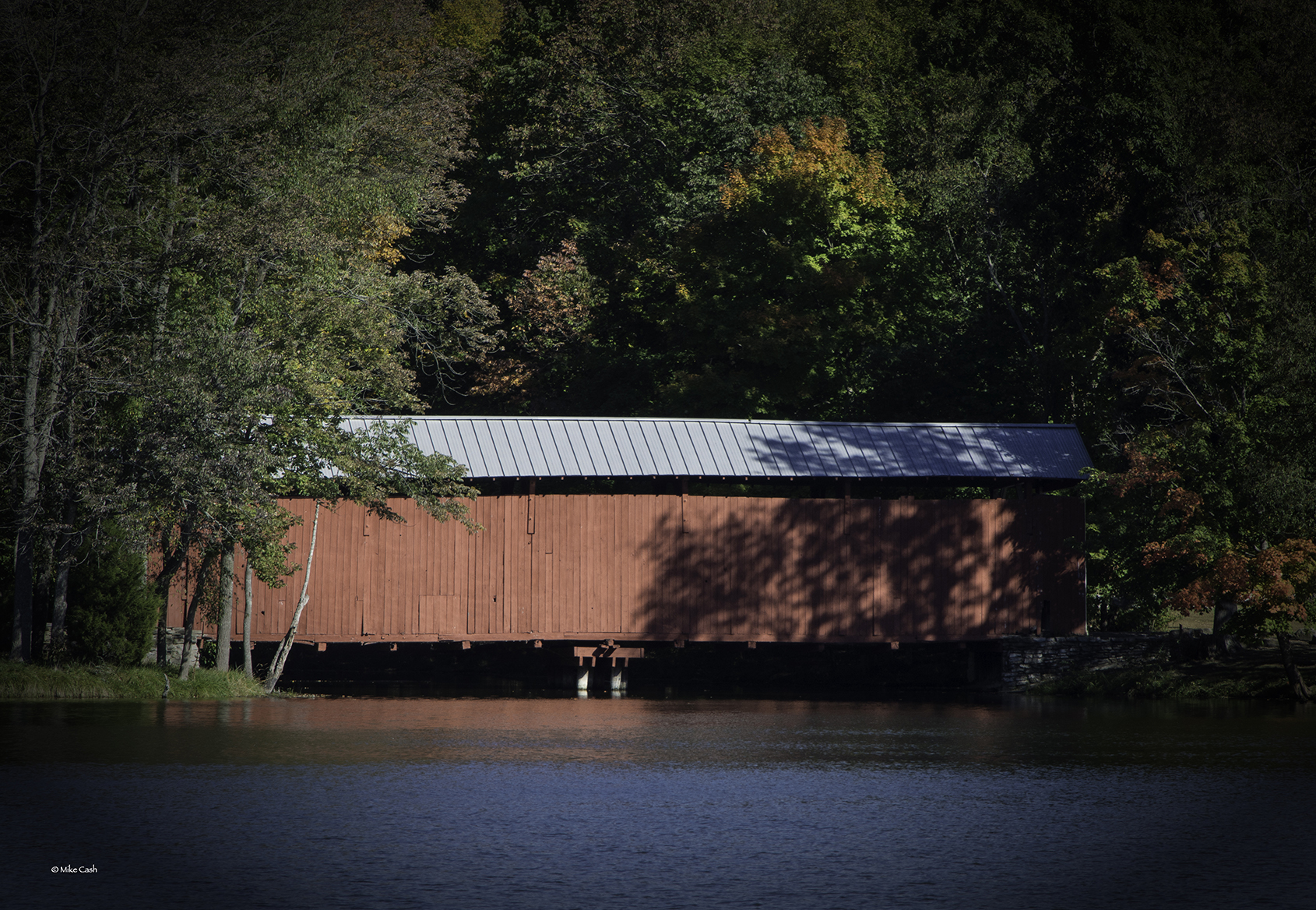Lots of covered bridges in Indiana.  Its nice to see one preserved in the park.