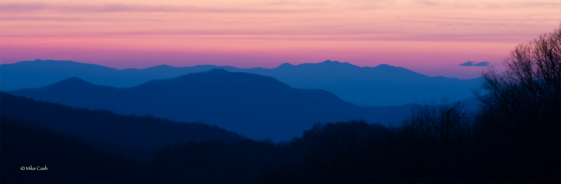 The pastels of early morning Twilight