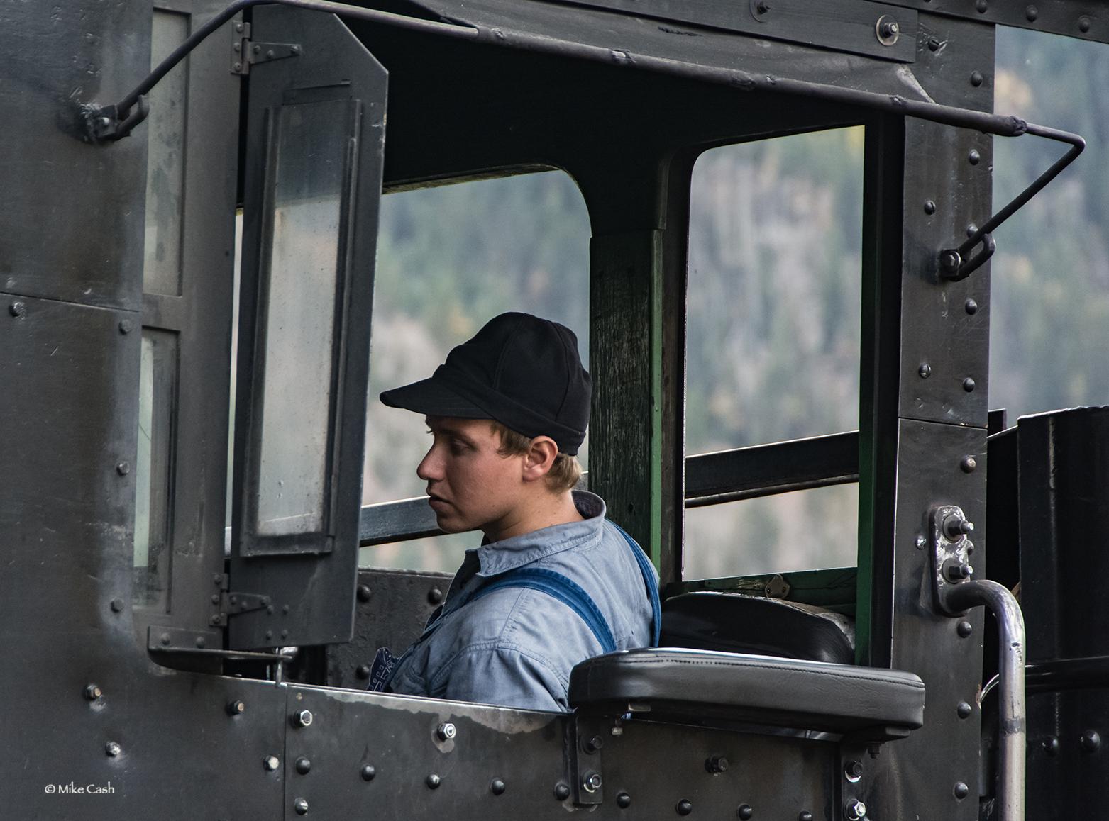 Young fireman on #482
