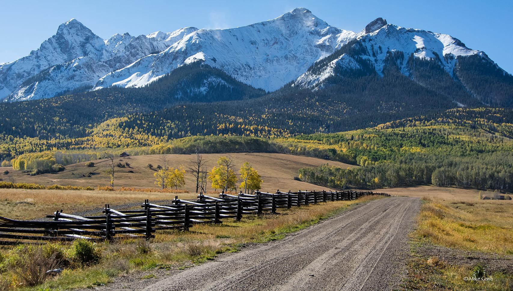Entrance road to Last Dollar Ranch