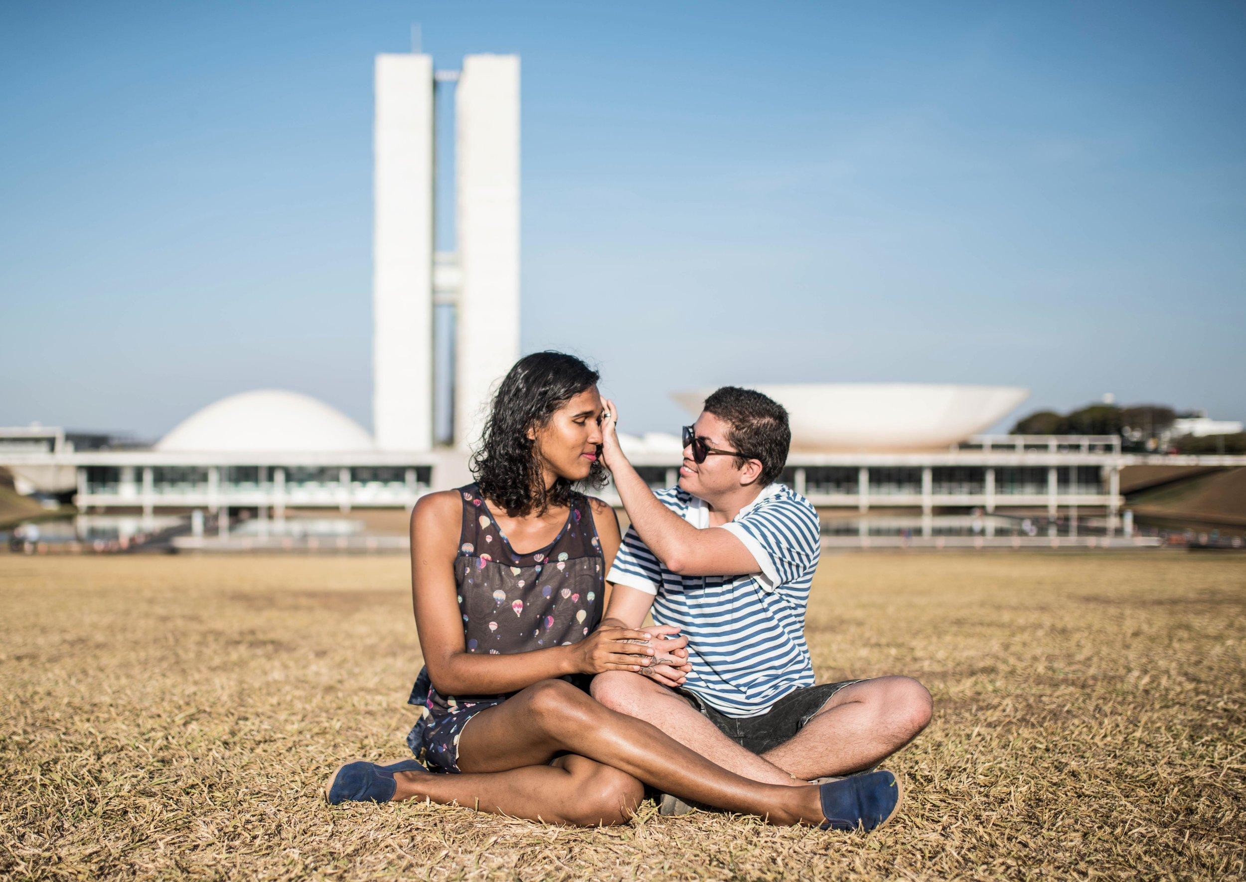 Wanda Marques e Christopher João em Brasília