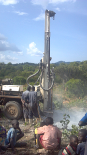 Drilling to find water