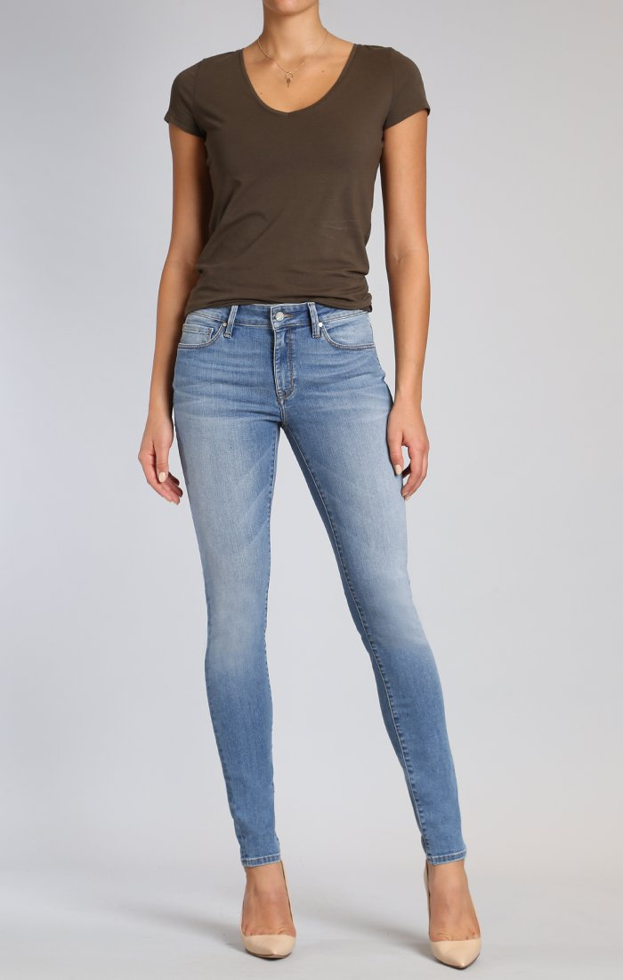 Light Wash Mid-Rise Skinnies