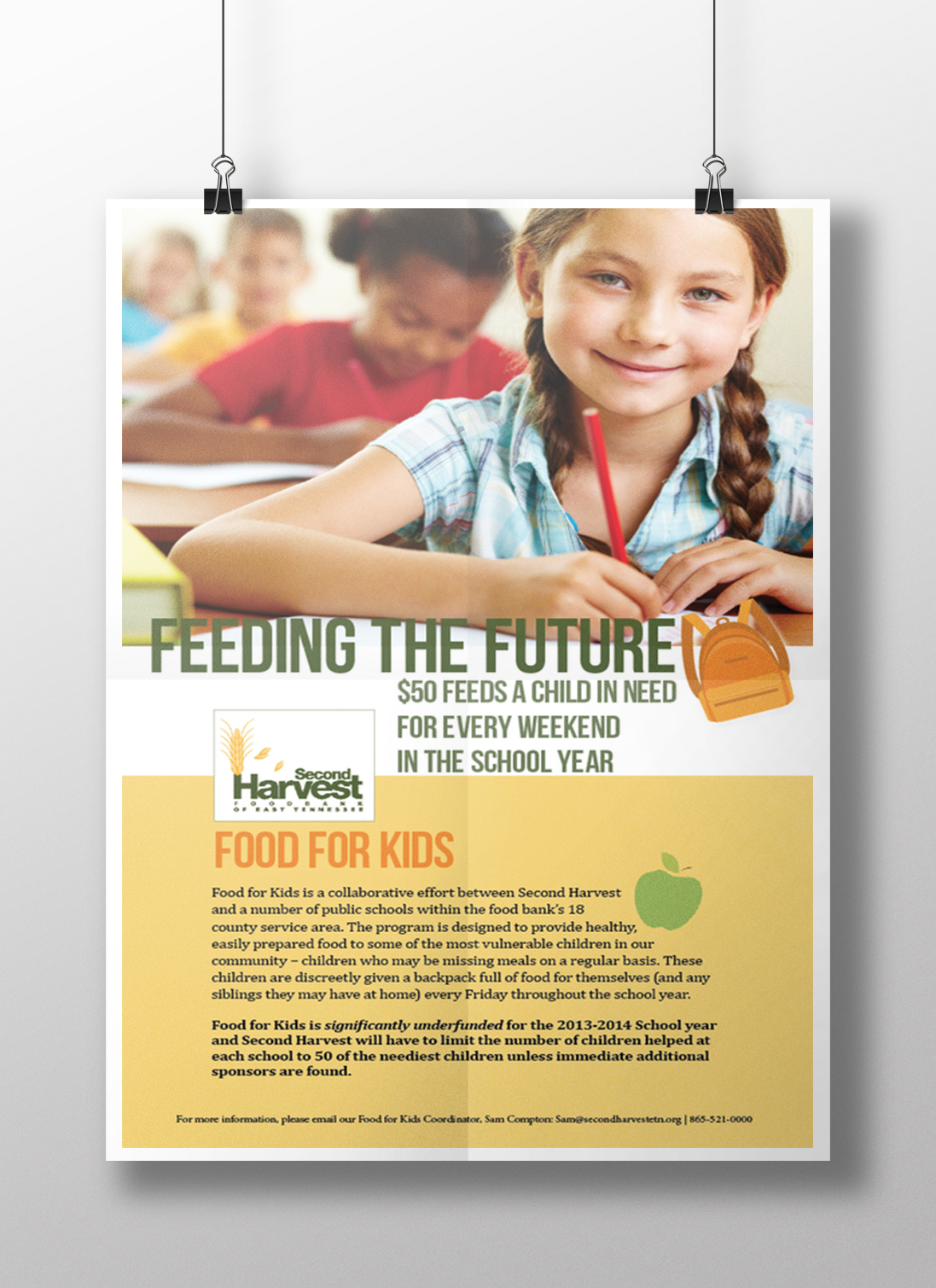 Food For Kids - Poster created in Adobe InDesign - class project