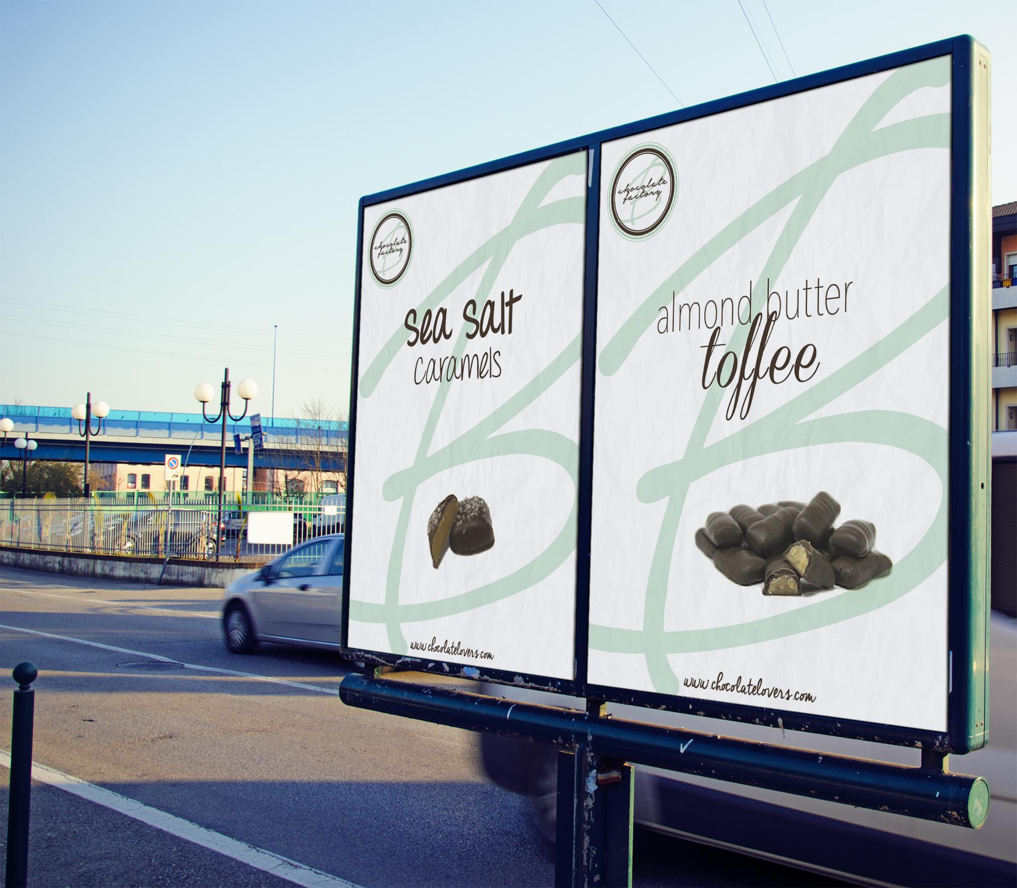 Bradley's Chocolate FactoryOutdoor Advertising - created in Photoshop  - class project
