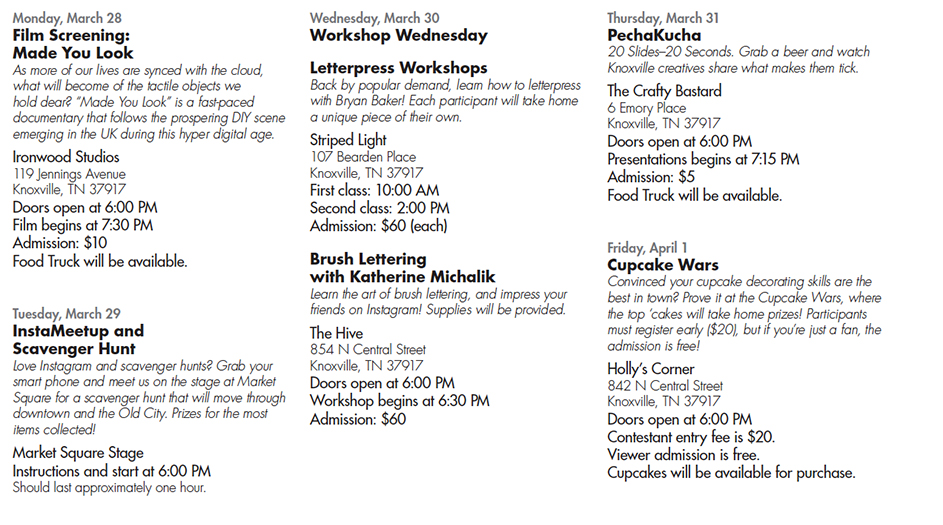 design week events knoxville AIGA