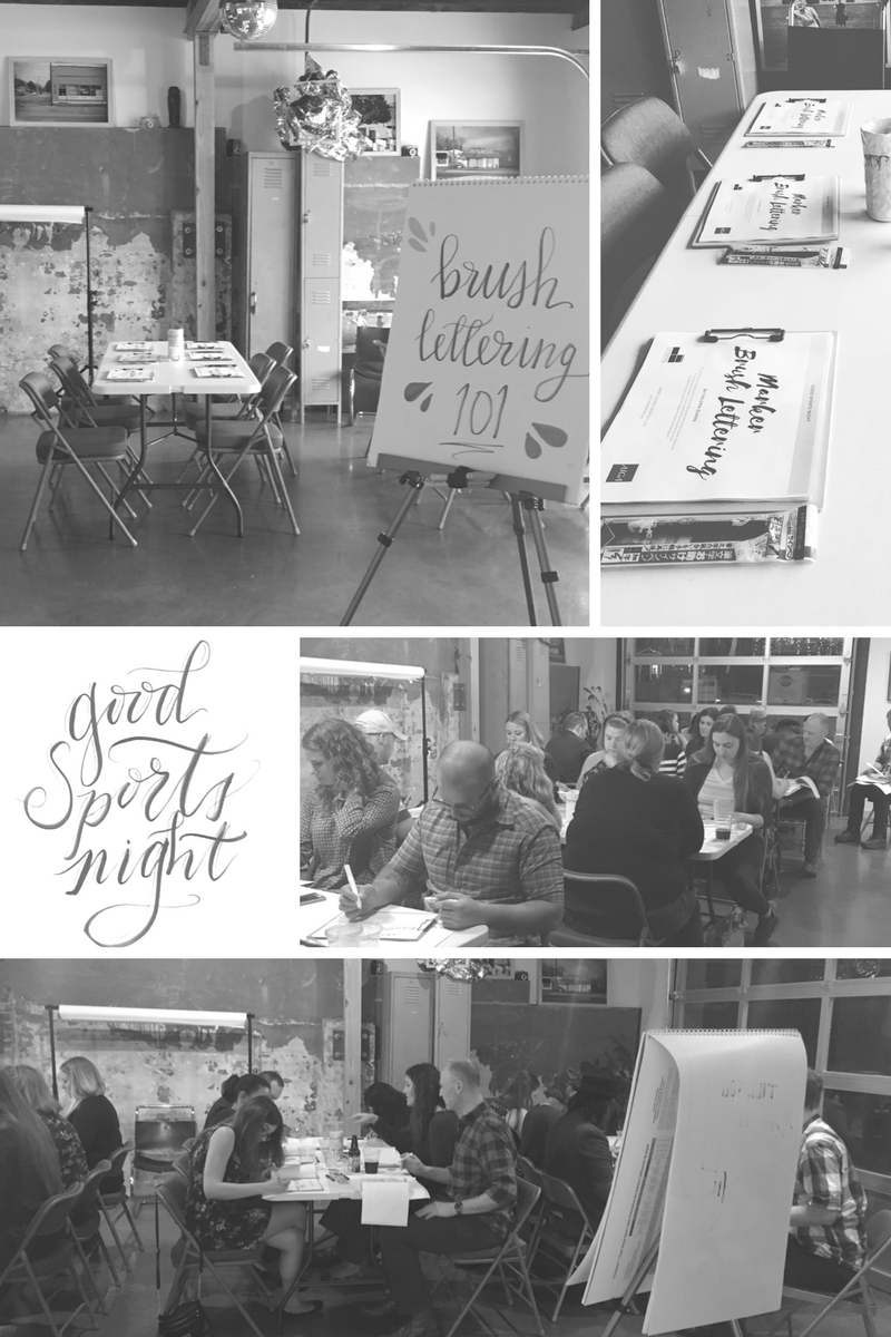 central collective knoxville good sport night aiga knoxville brush lettering workshop